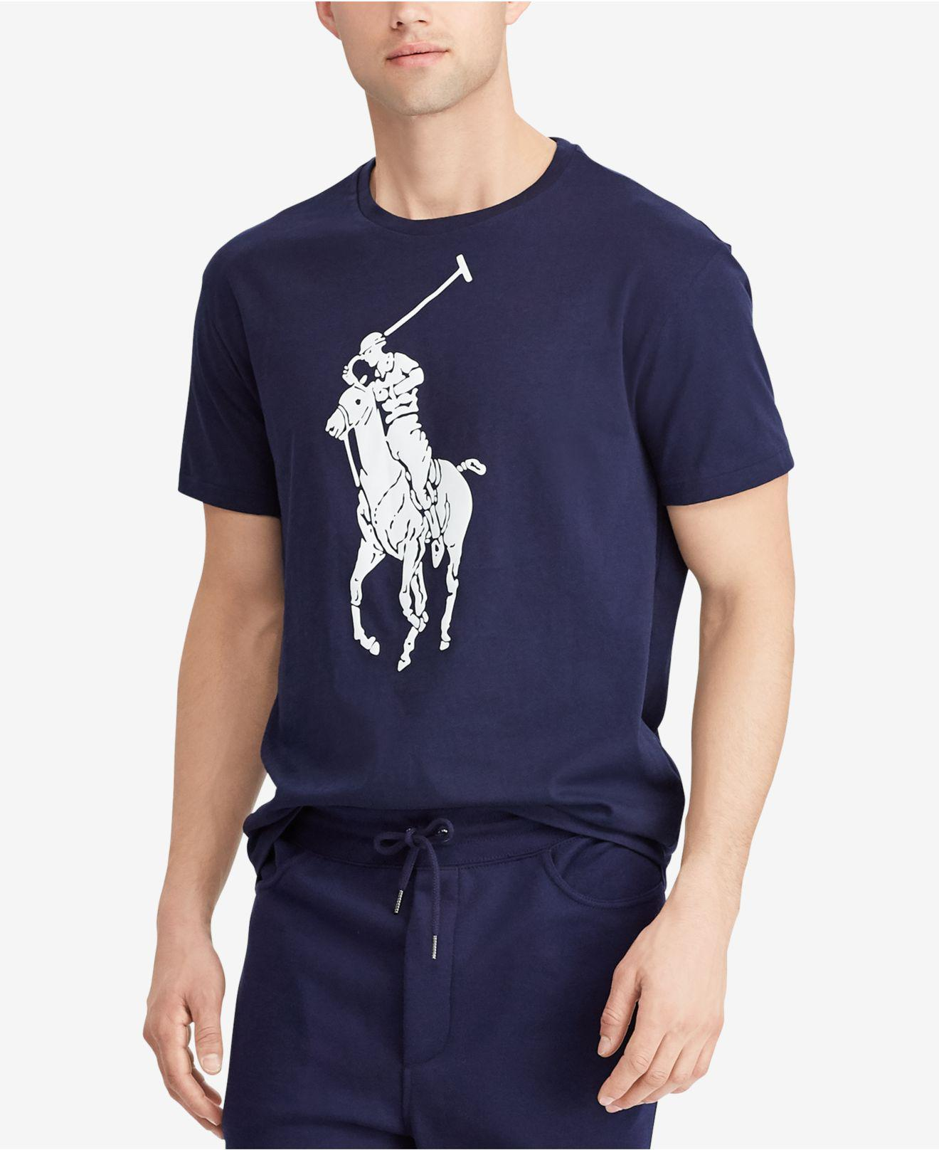 358ee20621e9 Lyst - Polo Ralph Lauren Classic-fit Big Pony T-shirt in Blue for Men