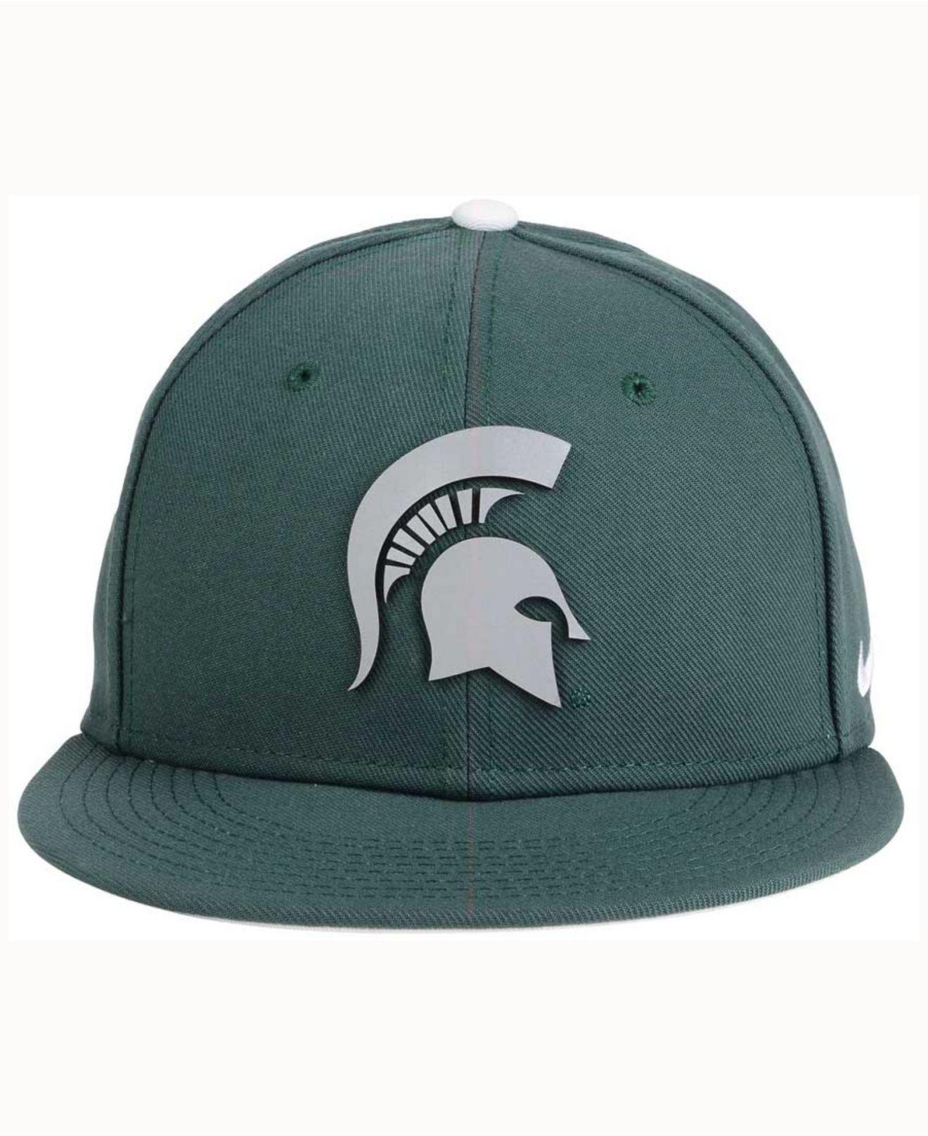 uk availability 3d889 1be9b ... usa lyst nike michigan state spartans true reflective snapback cap in  c7464 ea43a