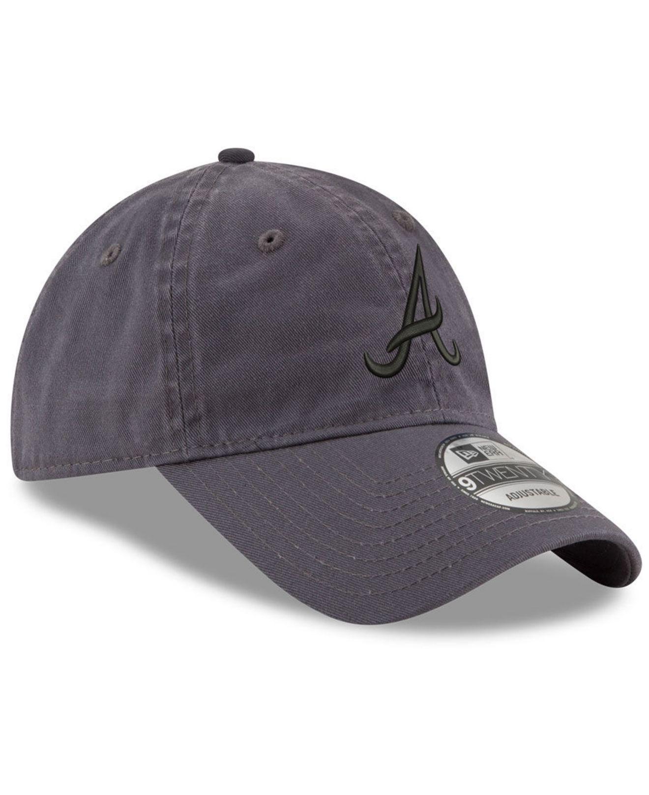 promo code 1bf30 a0738 ... shop atlanta braves graphite 9twenty cap for men lyst. view fullscreen  23c66 a3c3f