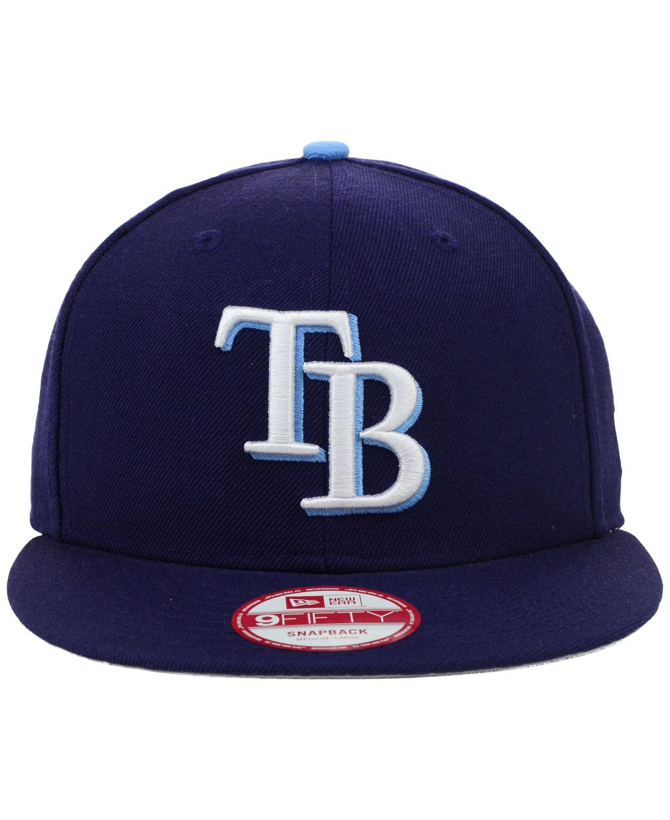 660ddd2e1ef4f Lyst - KTZ Tampa Bay Rays Mlb 2 Tone Link 9fifty Snapback Cap in Blue for  Men