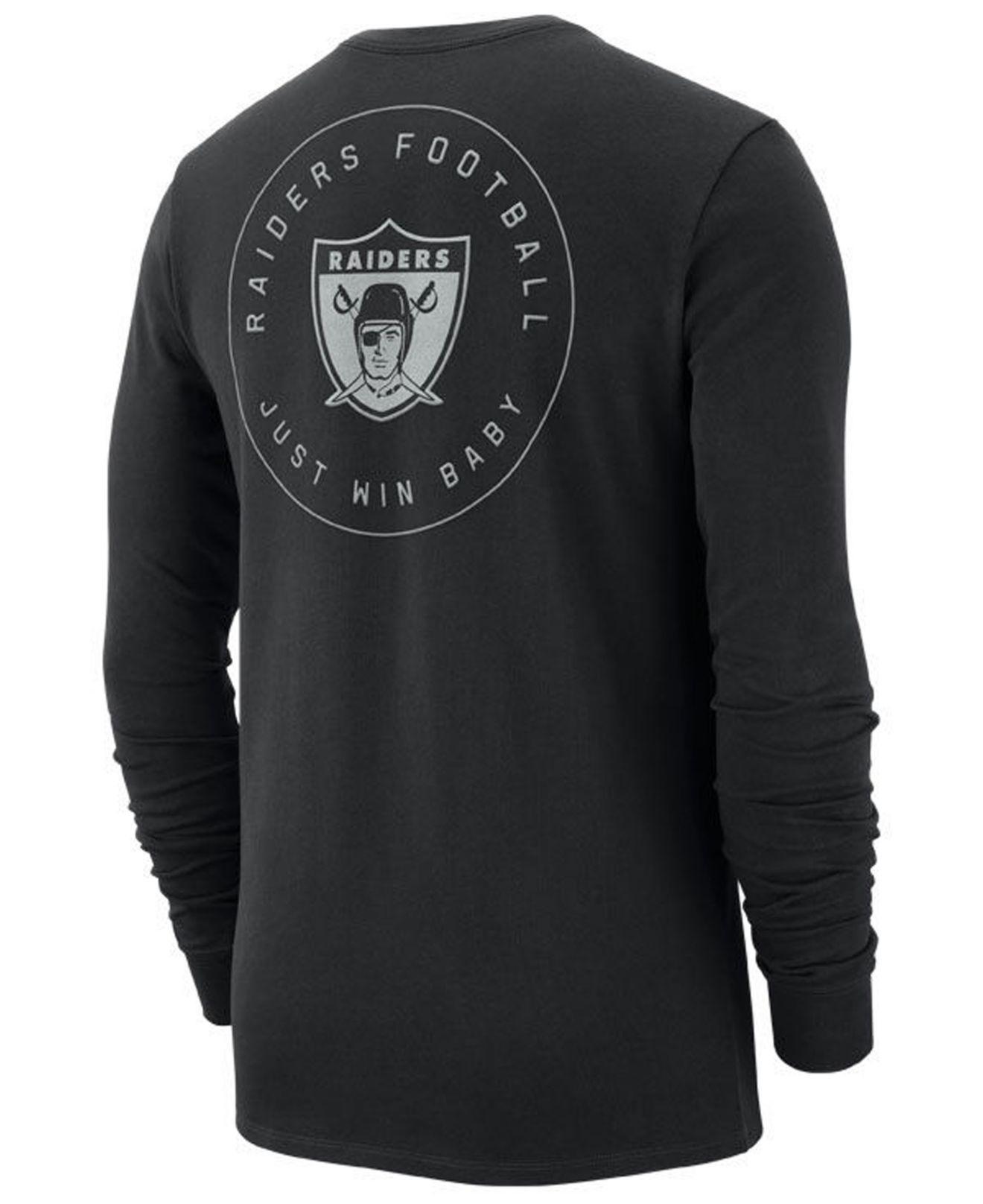 Lyst - Nike Oakland Raiders Heavyweight Seal Long Sleeve T-shirt in Black  for Men 88cc7cb79