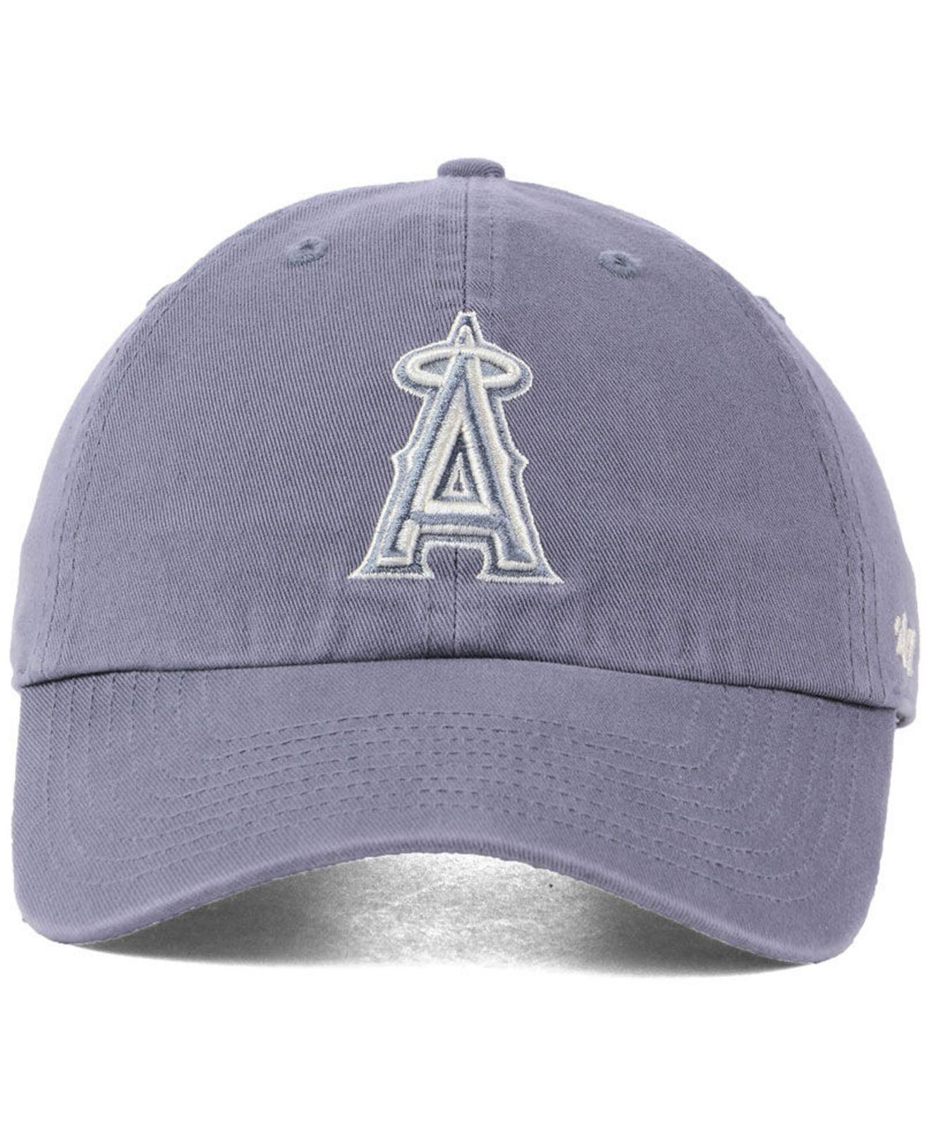 the latest eff01 1ba4f ... coupon code for lyst 47 brand los angeles angels dark gray clean up cap  in gray