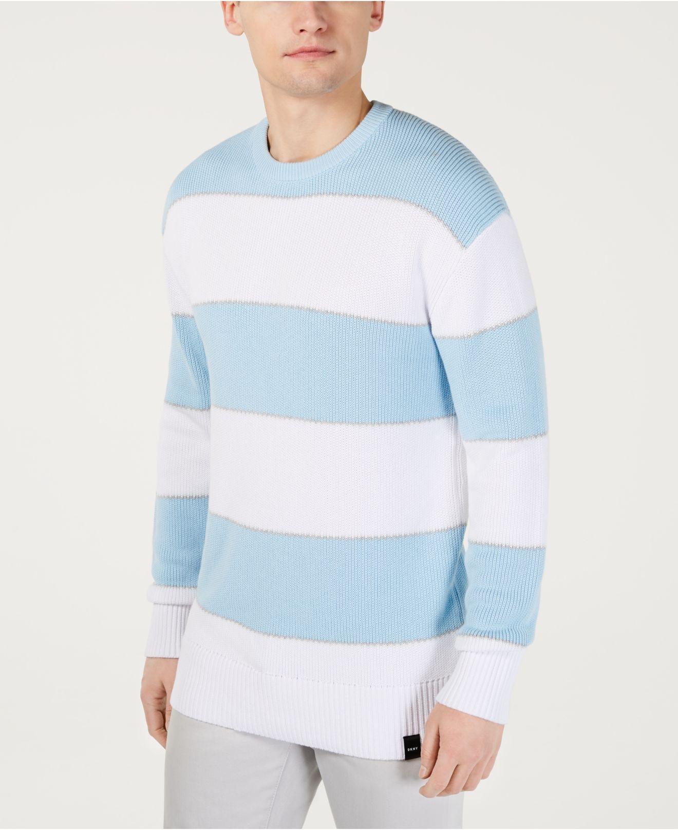 72e91ca86 DKNY - Blue Ombré Rugby Stripe Sweater for Men - Lyst. View fullscreen