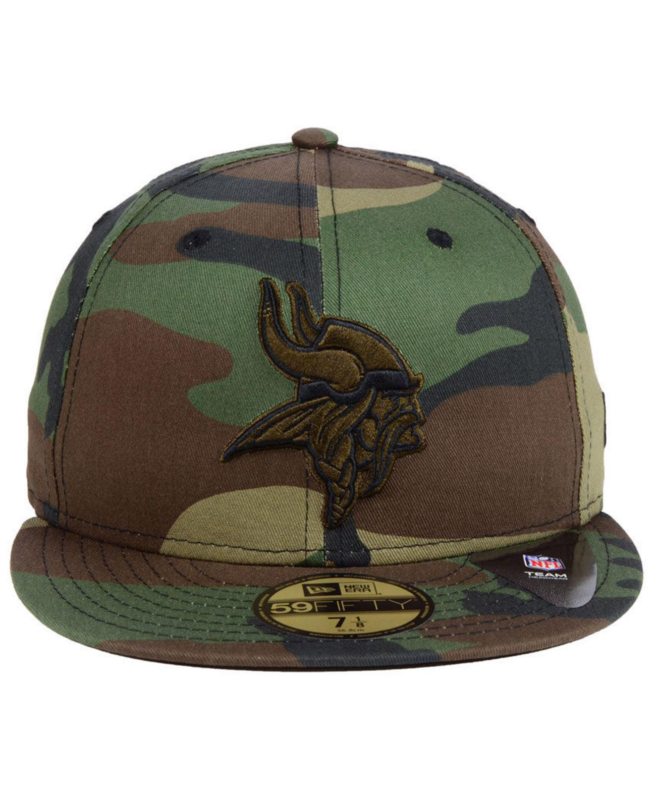 150c587ccf4 Lyst - KTZ Minnesota Vikings Woodland Prism Pack 59fifty-fitted Cap in Green  for Men