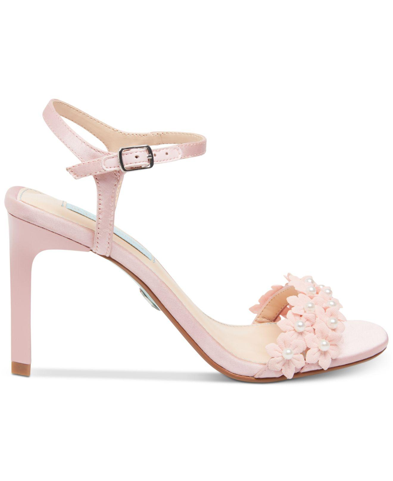 3d7bc5ed439 Lyst - Betsey Johnson Blue By Snow Evening Sandals in Pink