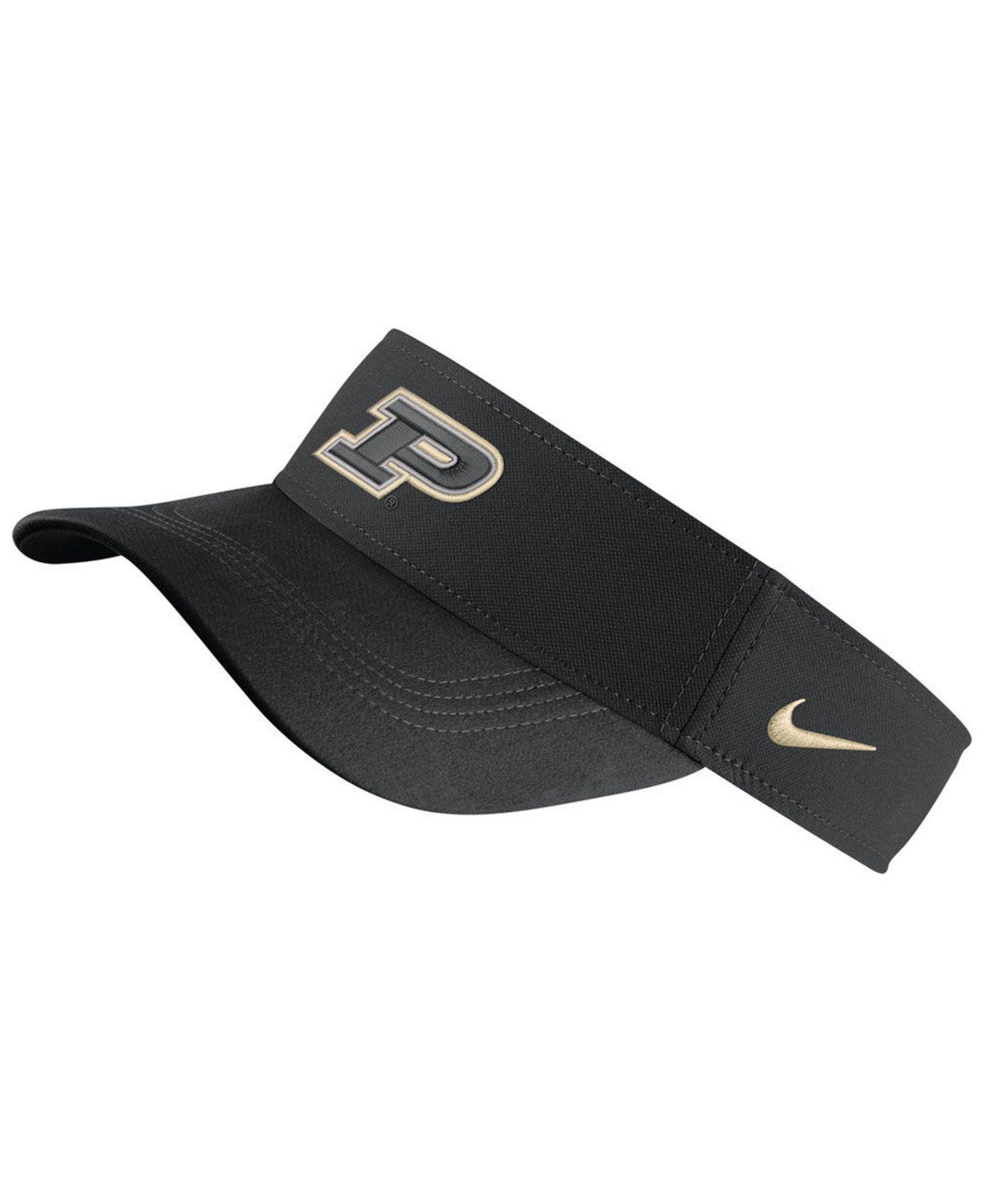 best sneakers 9b19f ea71b Nike - Black Purdue Boilermakers Dri-fit Visor - Lyst. View fullscreen