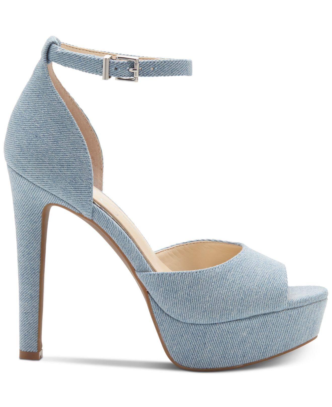 1074801621c Lyst - Jessica Simpson Beeya Two-piece Platform Sandals