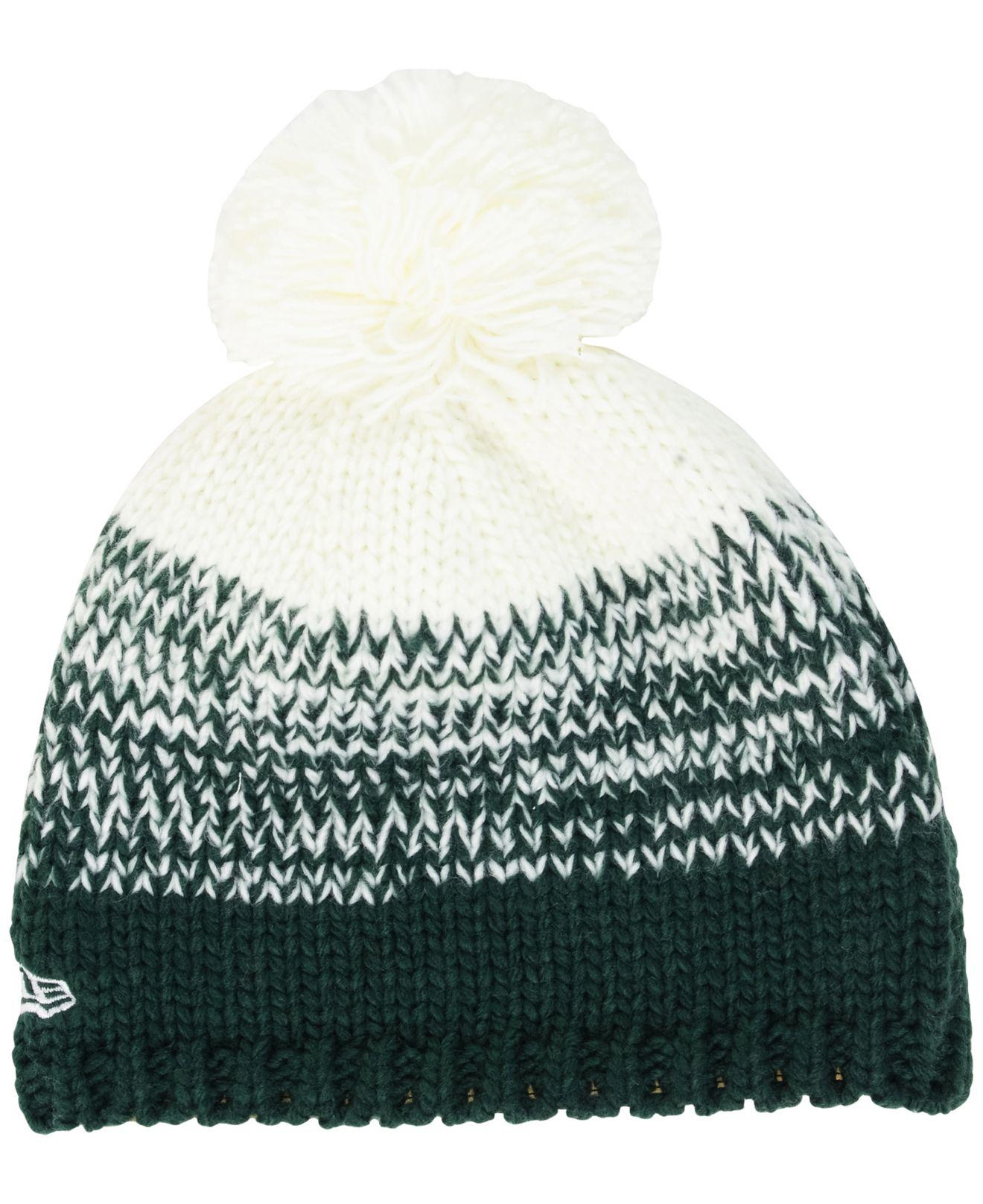 3b5b7d5622603 Lyst - Ktz Women s New York Jets Polar Dust Knit Hat in White