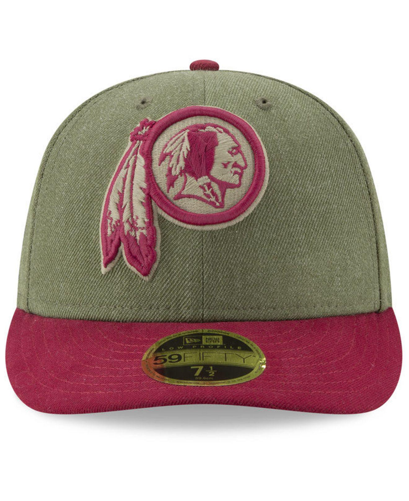 san francisco 4085a 4d848 Lyst - Ktz Washington Redskins Salute To Service Low Profile 59fifty Fitted  Cap 2018 in Green for Men