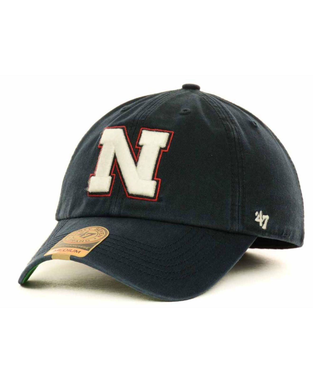 wholesale dealer a2d1a 9192a 47 Brand Nebraska Cornhuskers Franchise Cap in Blue for Men - Lyst
