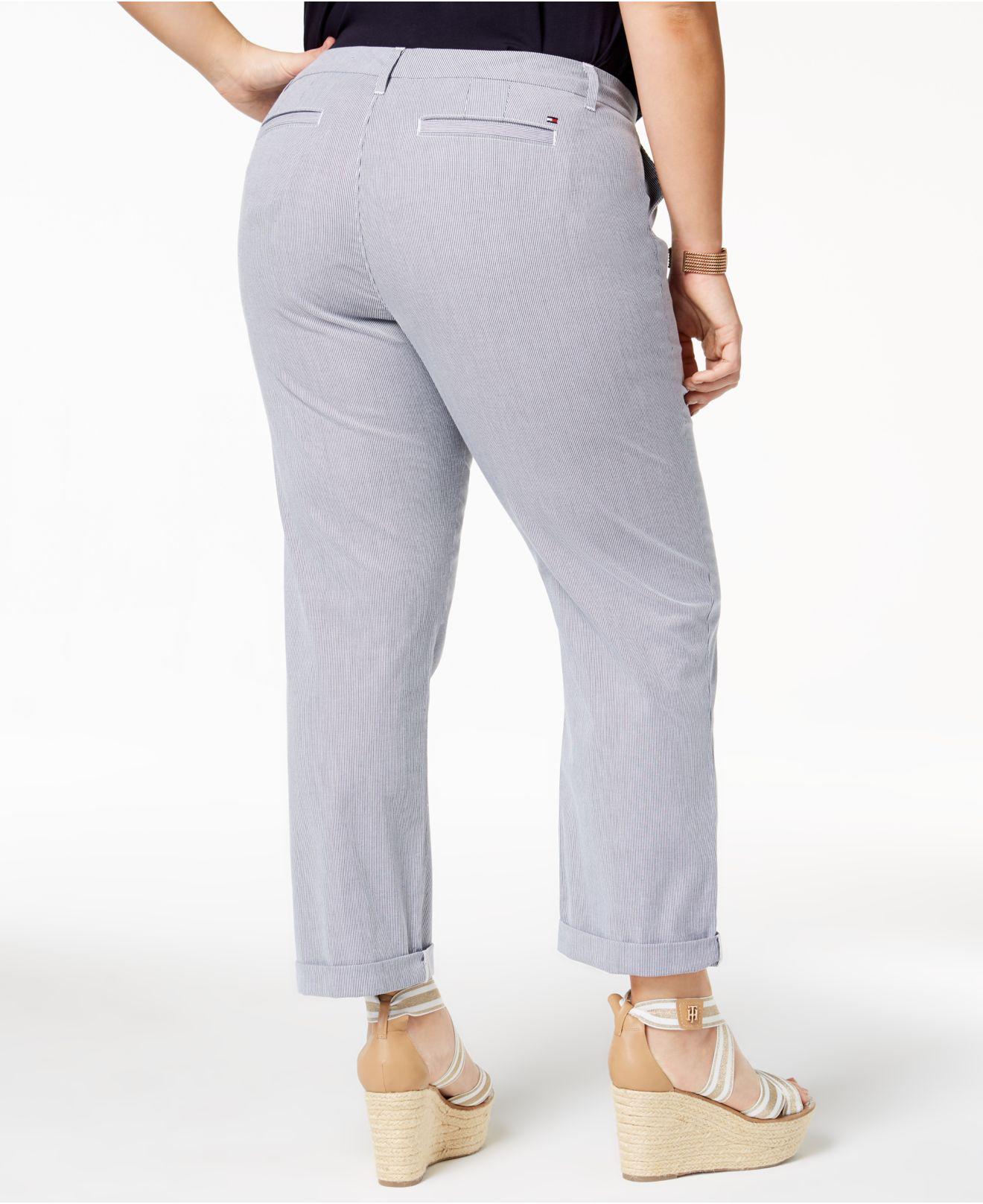 daa98e918d6 Lyst - Tommy Hilfiger Plus Size Pinstripe Ankle Pants