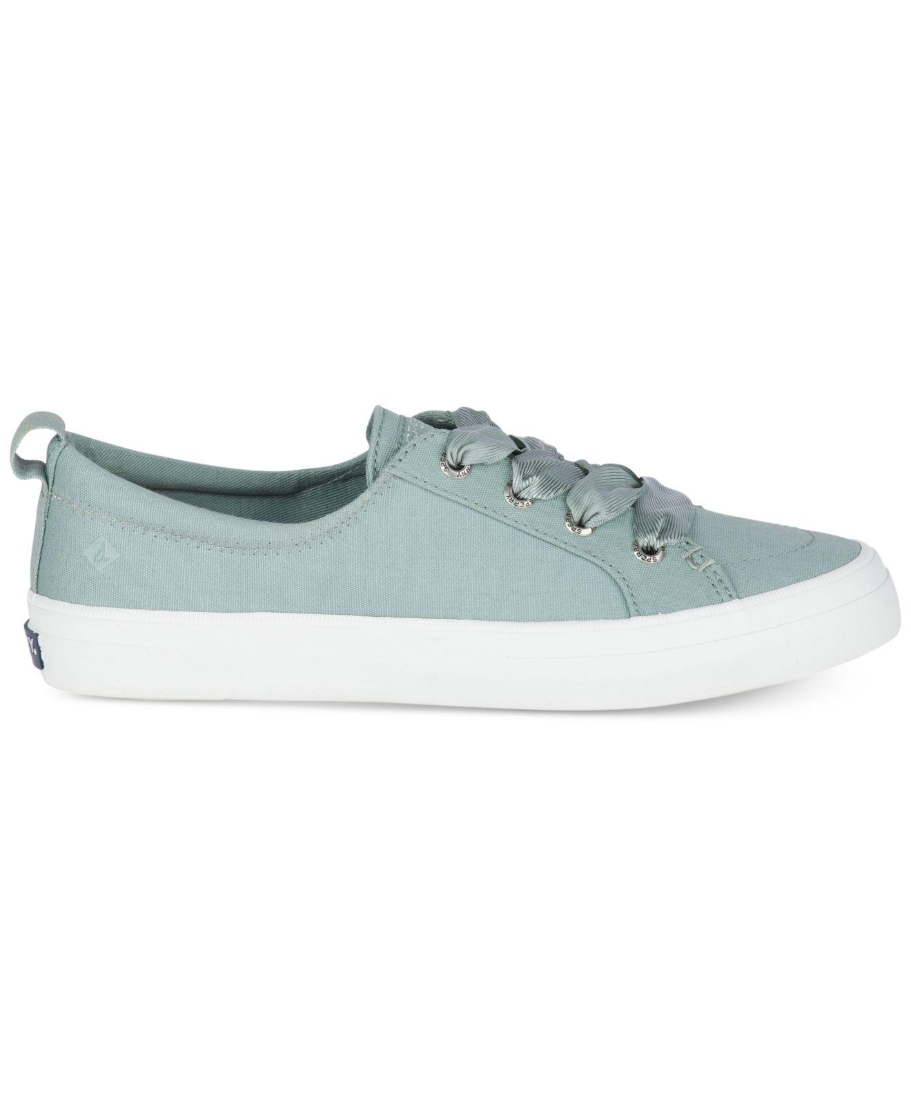 Sperry Women's Crest Vibe Satin Lace-Up Memory Foam Fashion Sneakers Women's Shoes NL8ru
