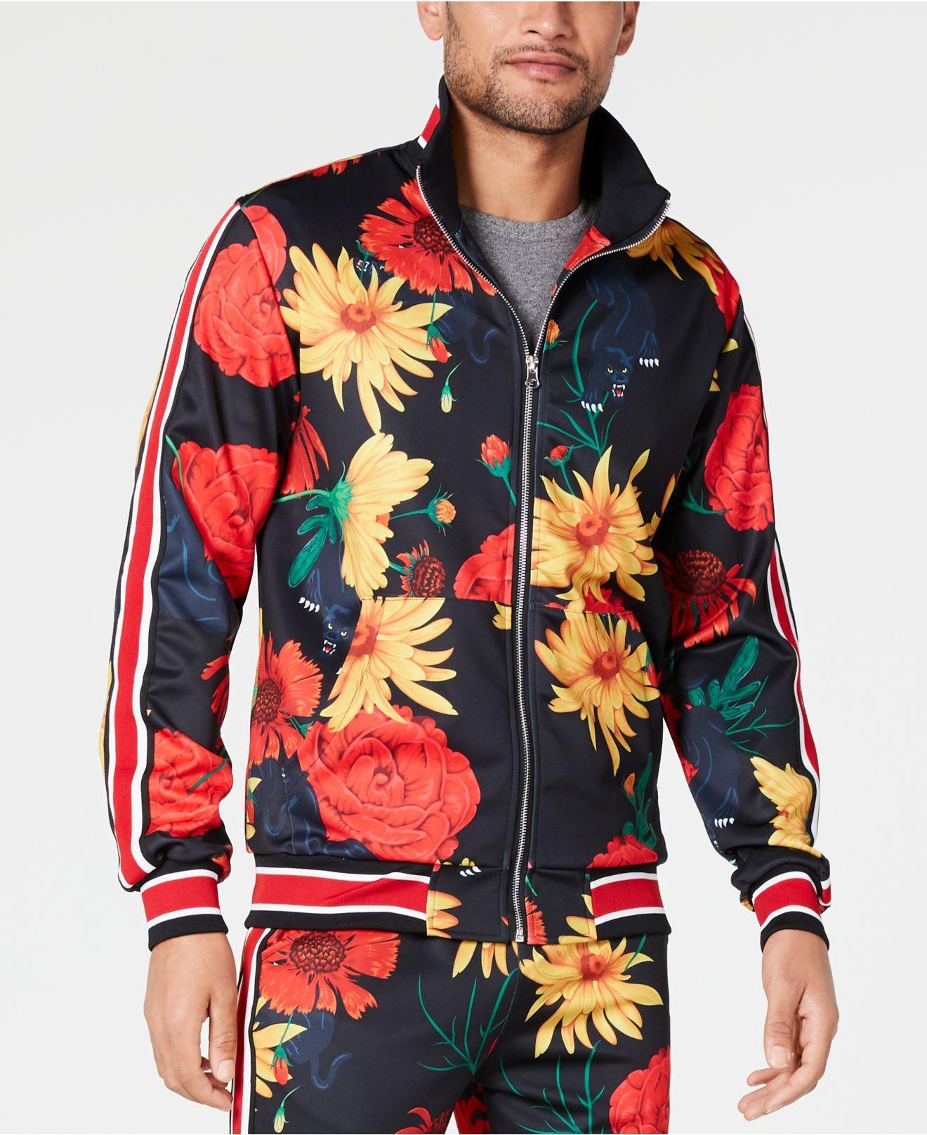 80185c87d69 Lyst - Reason Floral Panther Track Jacket for Men
