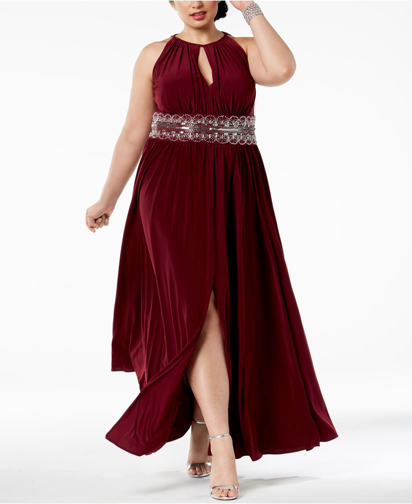 5361ef39aac7d R   M Richards. Women s Red R m Richards Plus Size Sleeveless Beaded Gown