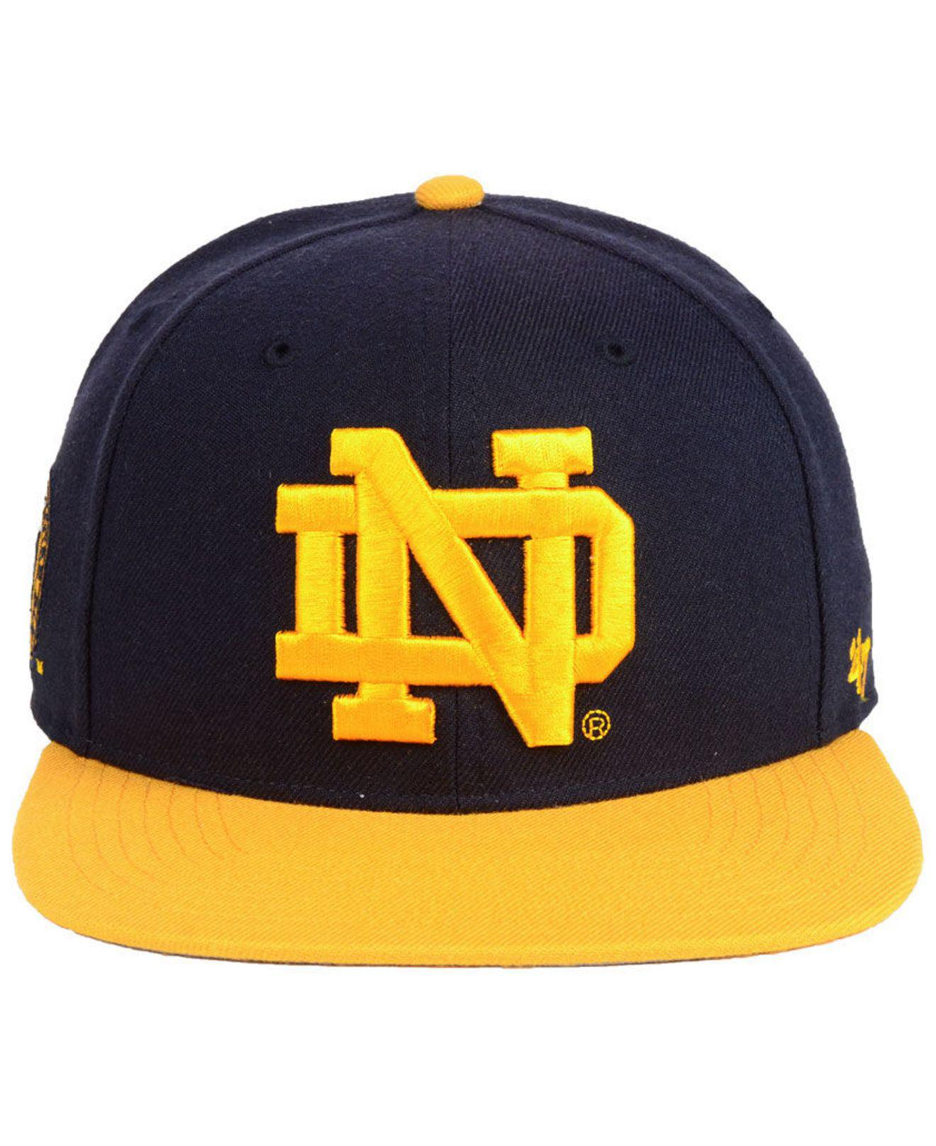 7ac0a947b1152 47 Brand Notre Dame Fighting Irish Sure Shot 2 Tone Captain Snapback Cap in  Blue for Men - Lyst
