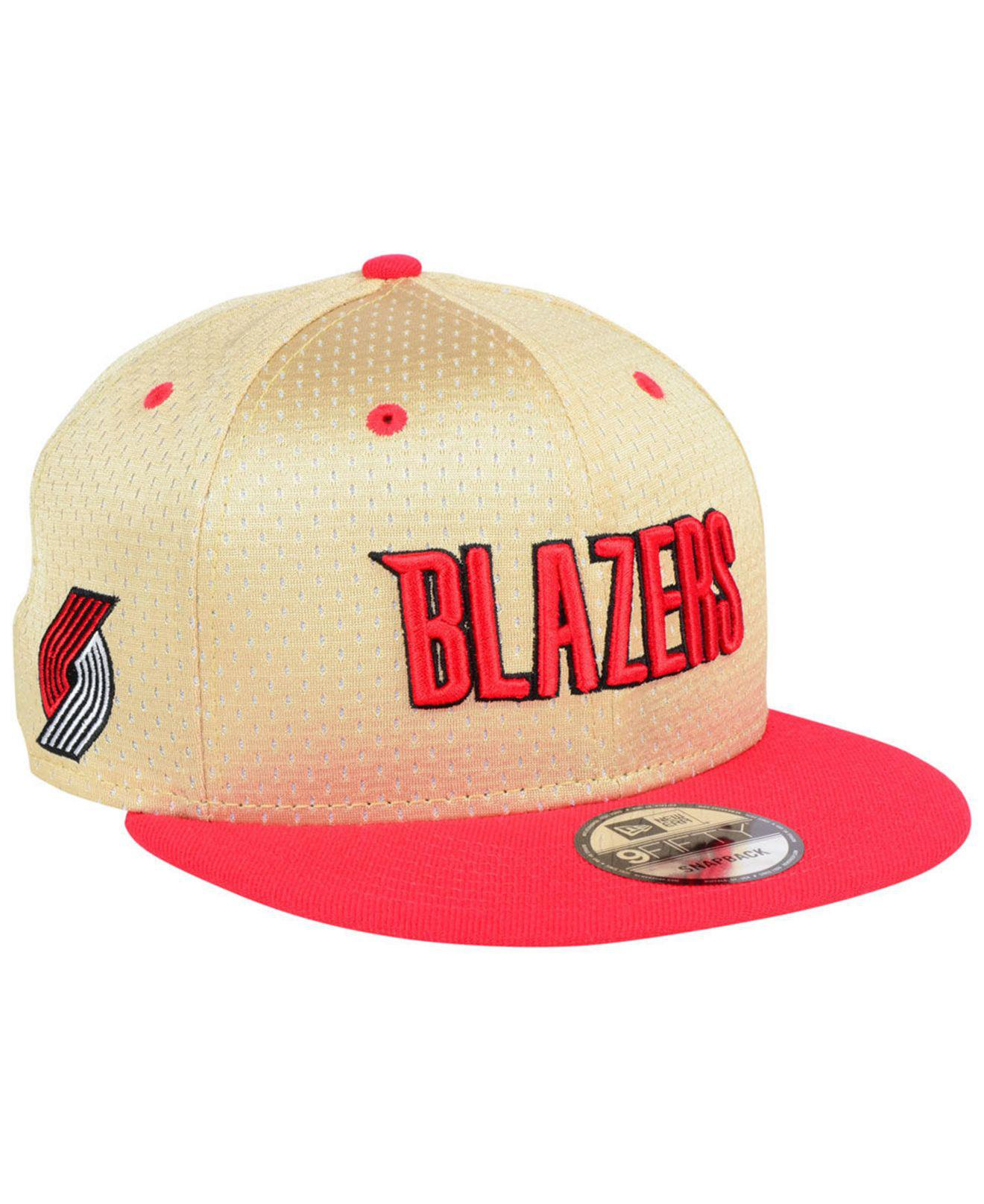 finest selection e2ac6 8aa32 ... denmark ktz. mens red portland trail blazers champagne 9fifty snapback  cap 22210 7cfd4