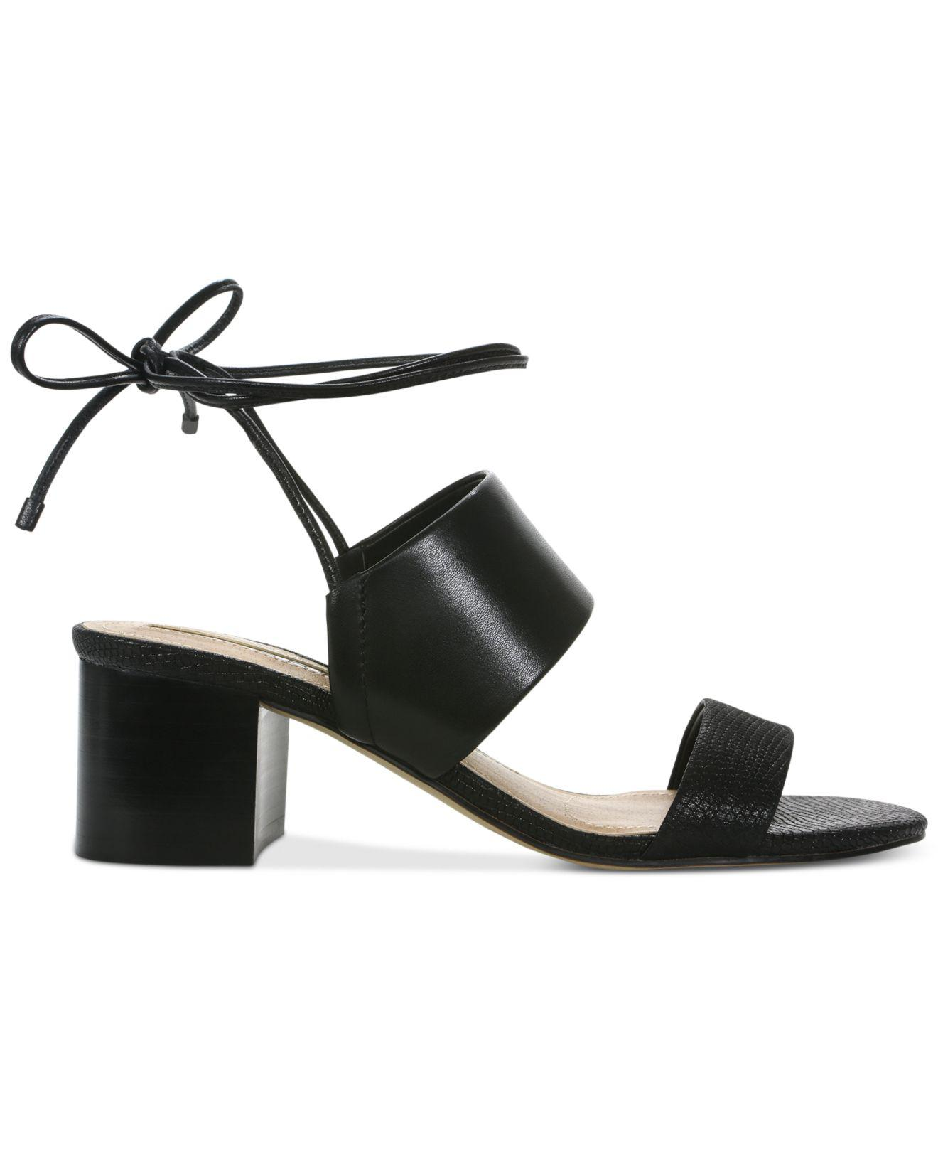 ede6b317bb60 Lyst - Tahari Doe Lace-up Sandals in Black