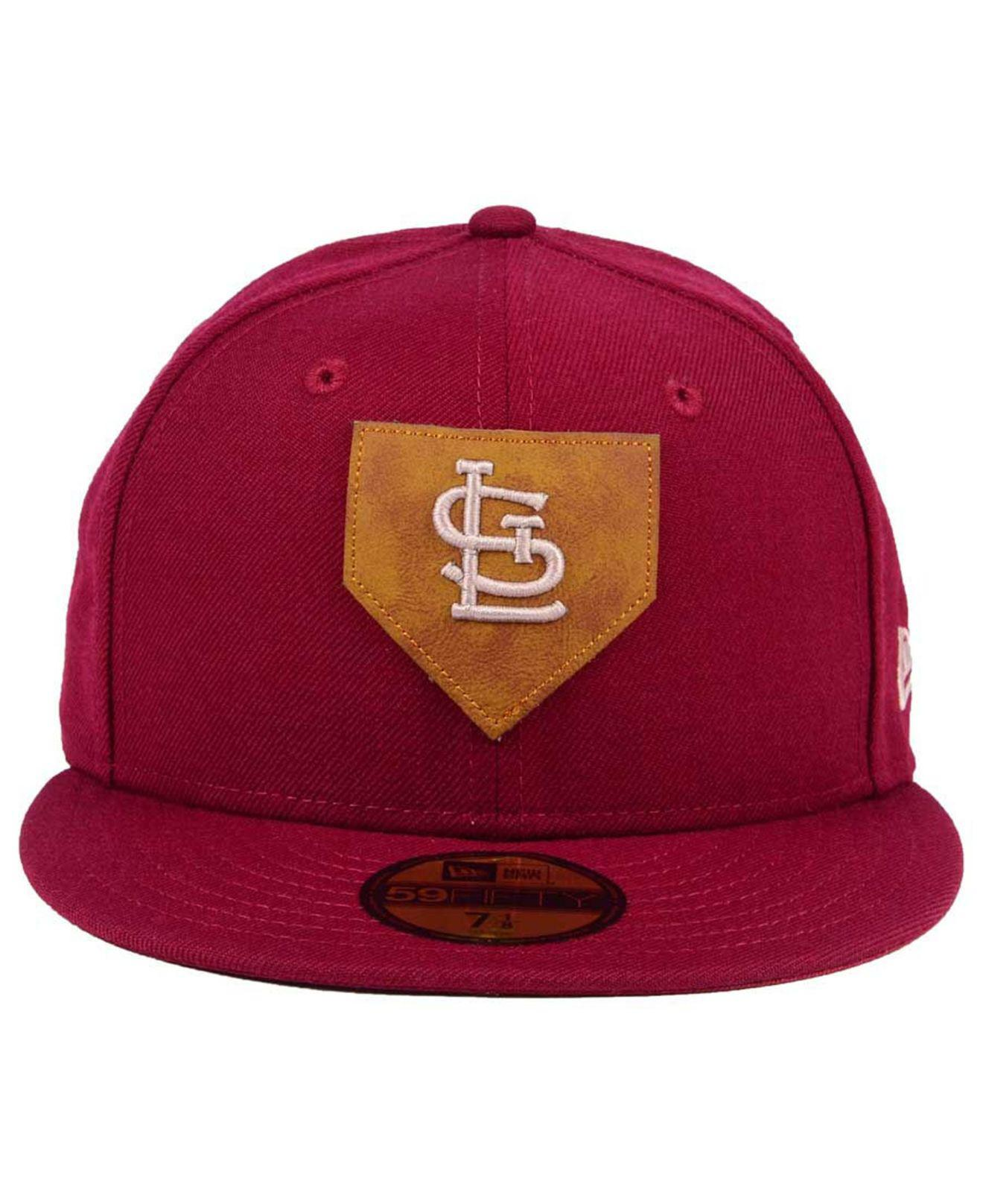 finest selection 3b744 010b0 ... get lyst ktz st. louis cardinals the logo of leather 59fifty fitted  7de6a dba19