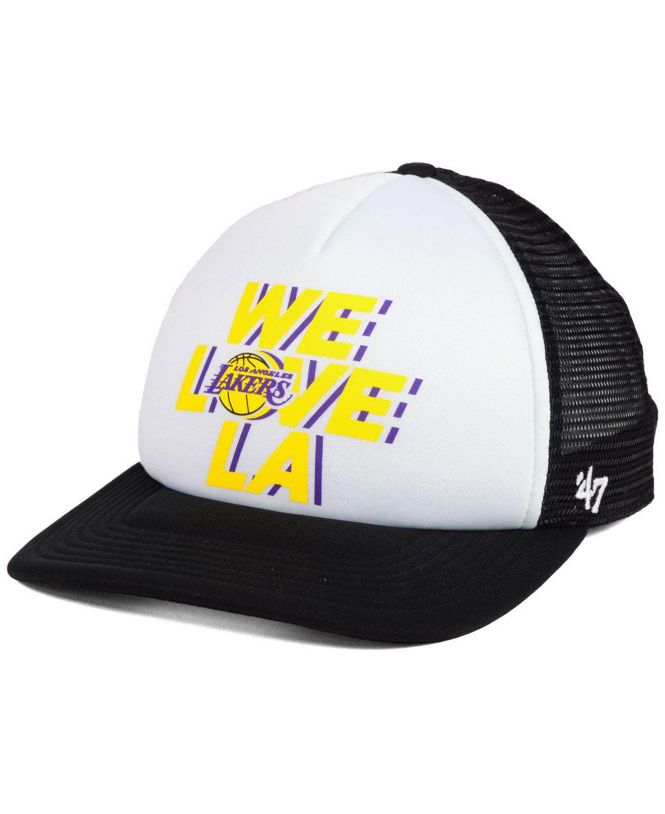new product d814d b8085 ... canada lyst 47 brand los angeles lakers region mesh mvp cap in black  for men 171d6