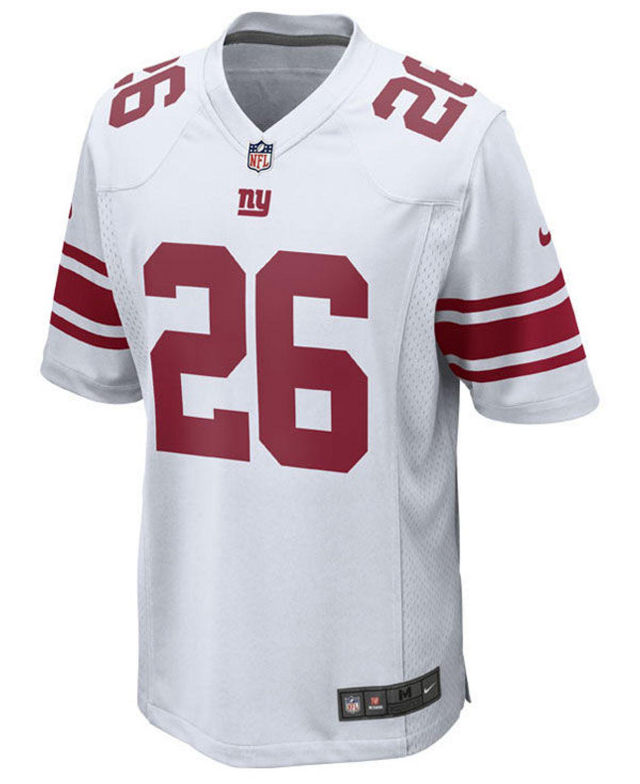 newest 2449b 6317a Lyst - Nike Saquon Barkley New York Giants Game Jersey in ...