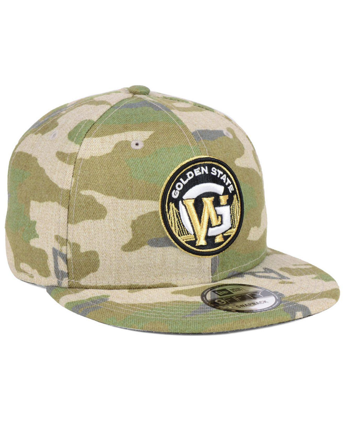 sale retailer 8ddd9 4cc98 ... clearance golden state warriors combo camo 9fifty snapback cap for men  lyst. view fullscreen 61369