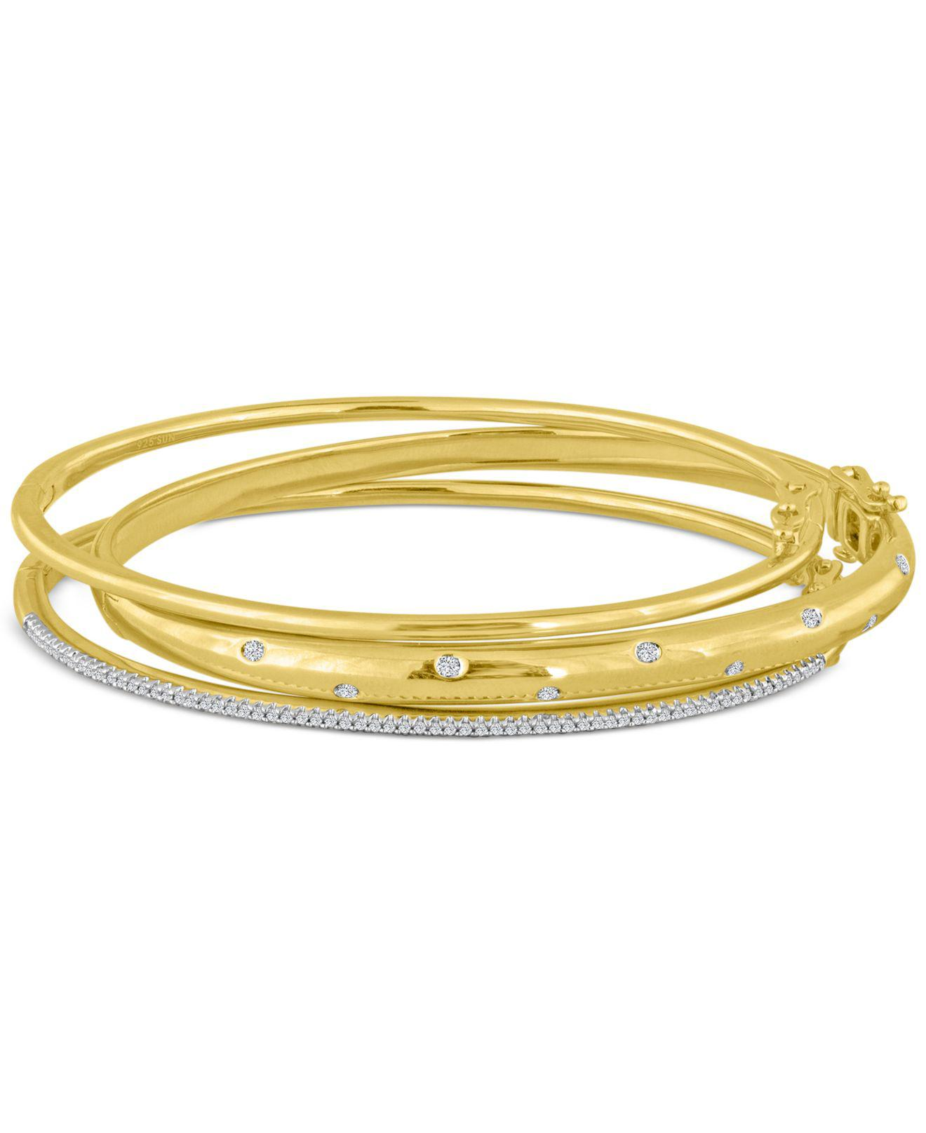 brand in lyst normal product brands gallery bracelet jewelry bangle and cuff gold lucky tone bangles stone metallic