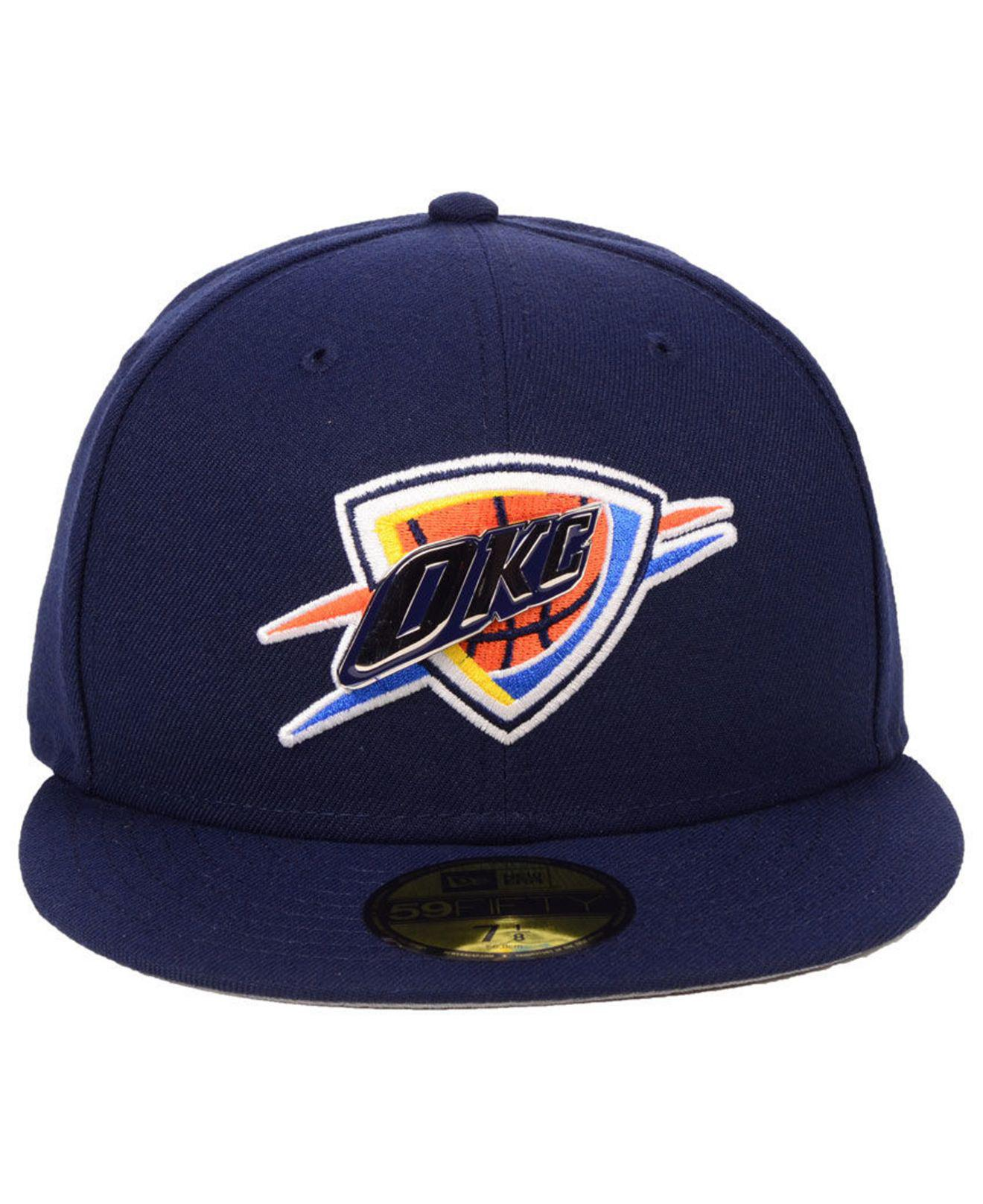 hot sale online 1728e 7c55d ... france lyst ktz oklahoma city thunder metal mash up 59fifty fitted cap  in blue for men