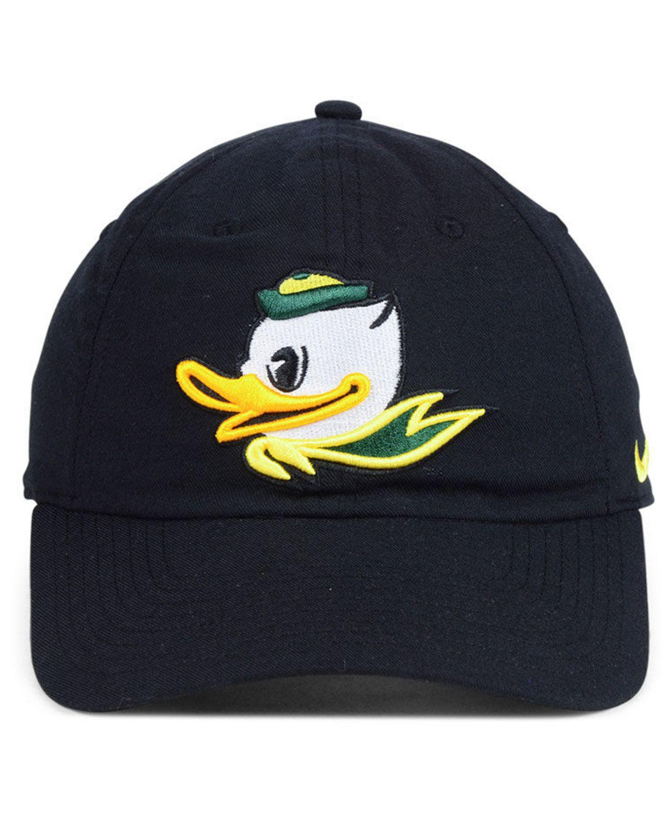 new style 64213 dec7d ... italy lyst nike oregon ducks core easy adjustable strapback cap in black  for men b5032 643a2 ...