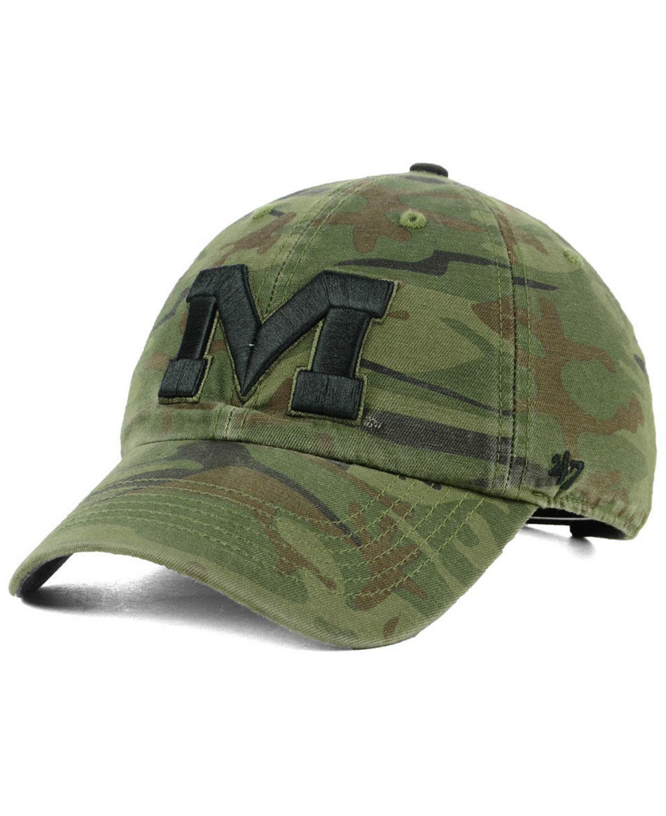 32e2d4a0194 Lyst - 47 Brand Ole Miss Rebels Regiment Clean Up Strapback Cap in ...