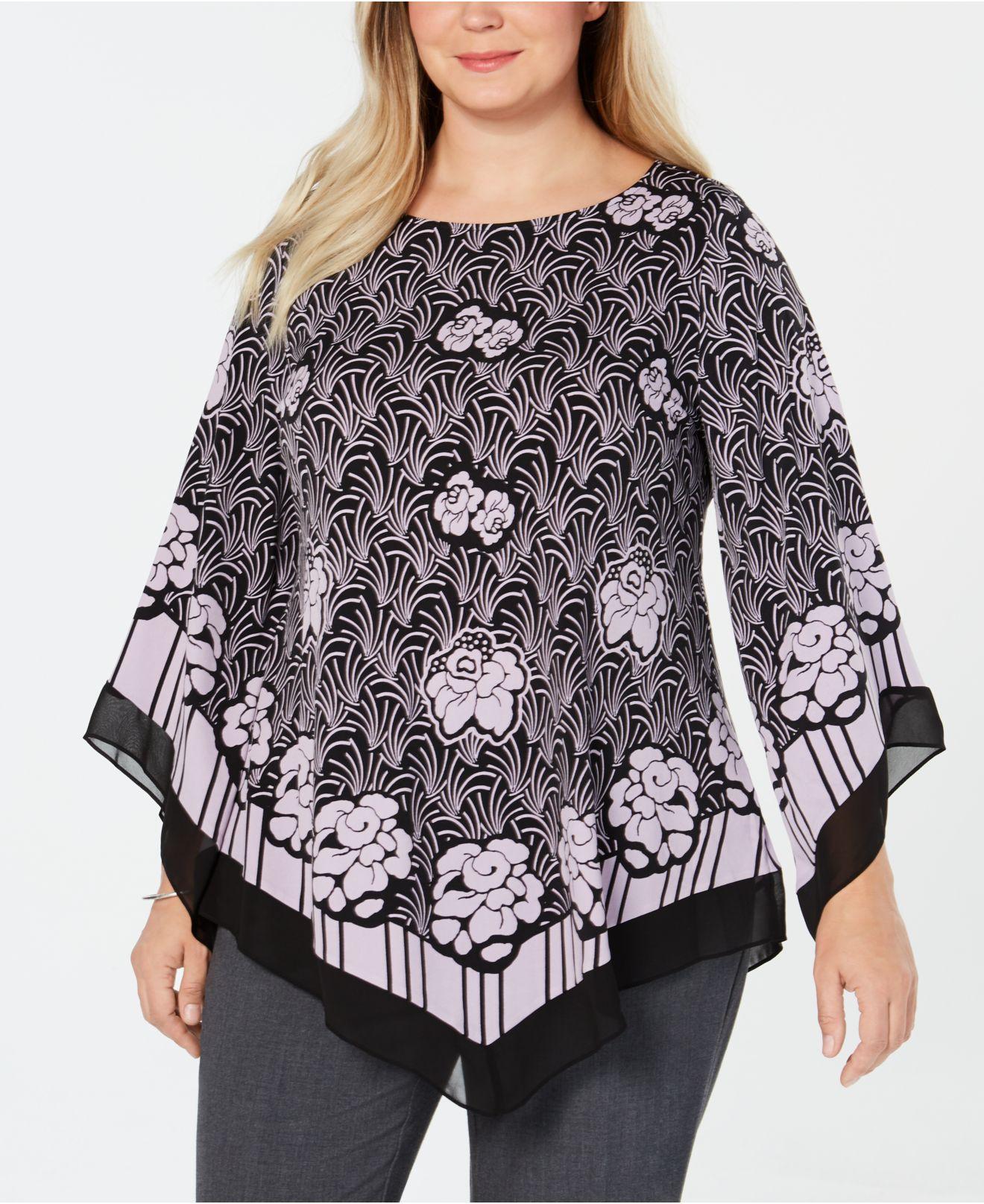 9b4b4104526 Alfani. Women s Plus Size Asymmetrical-hem Top ...