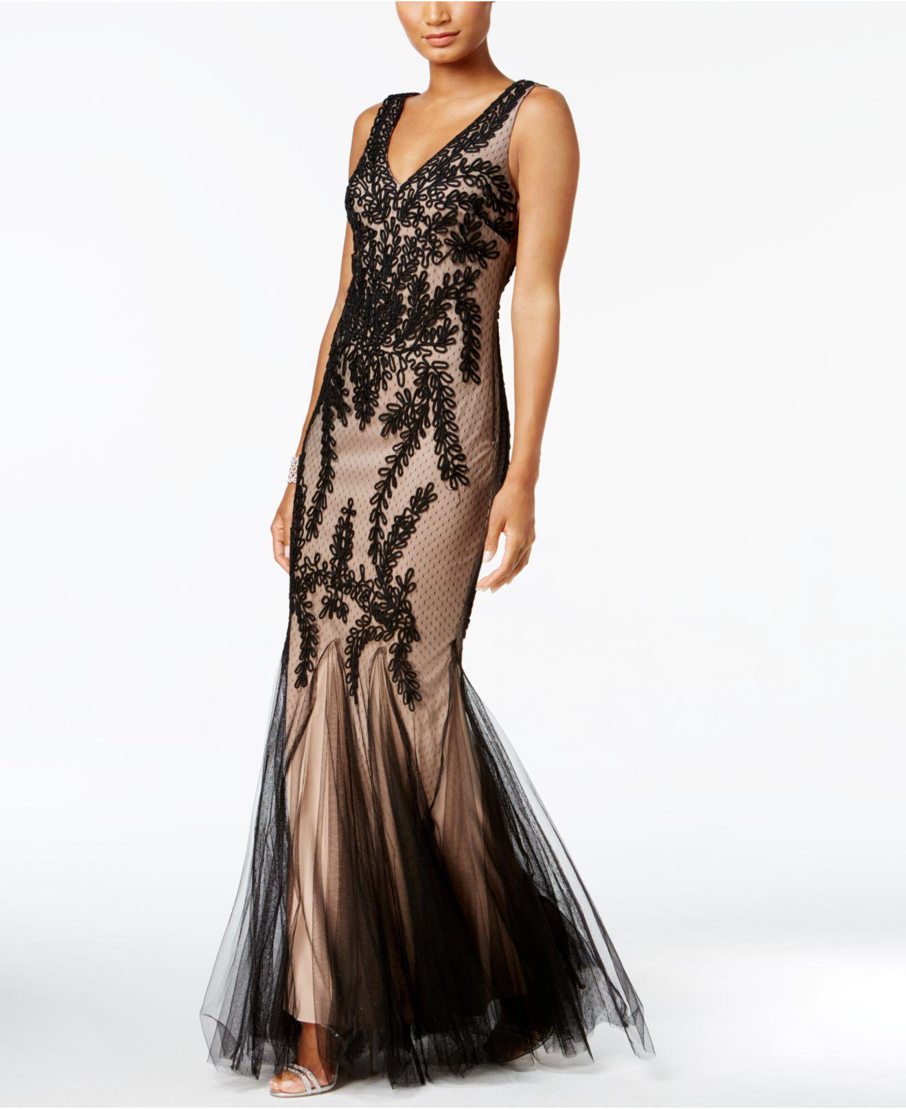 Lyst - Betsy & Adam Soutache Mermaid Gown