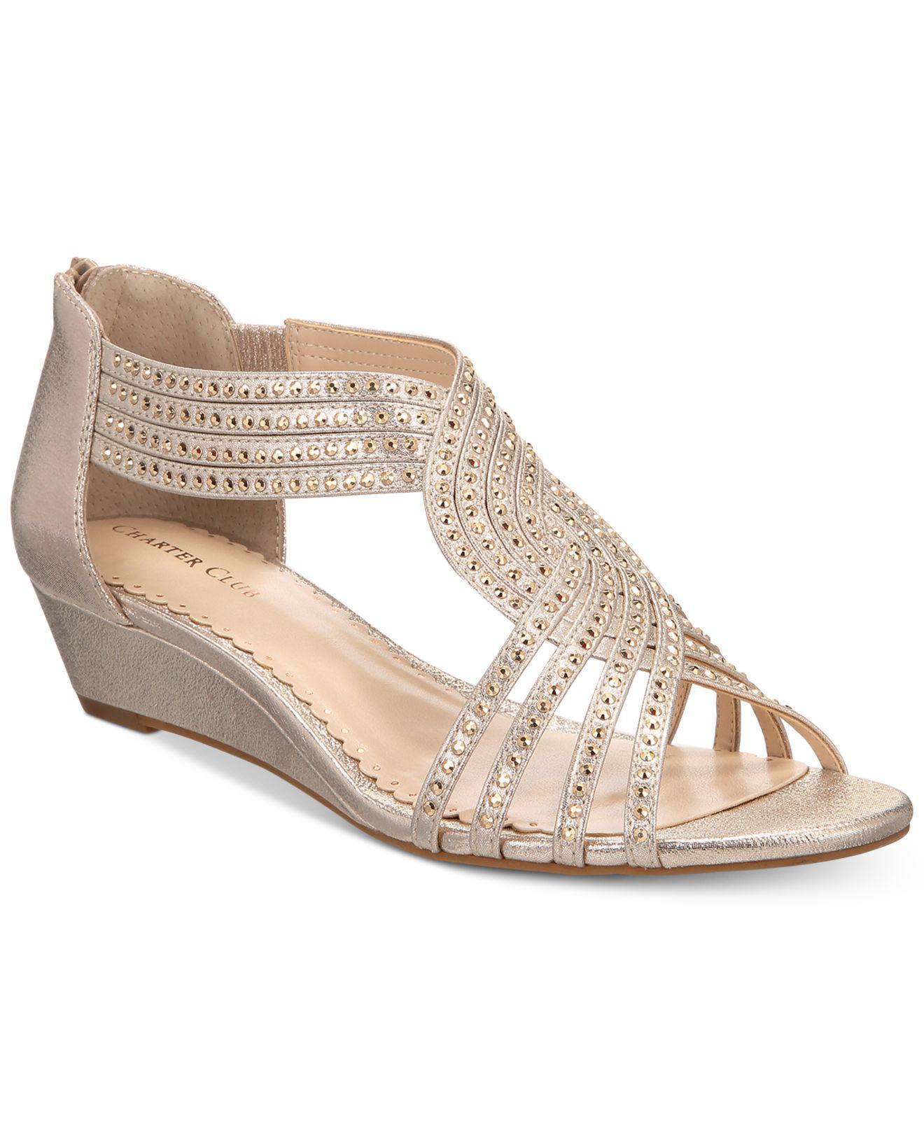 3ccd06d7b575 Lyst - Charter Club Ginifur Wedge Sandals