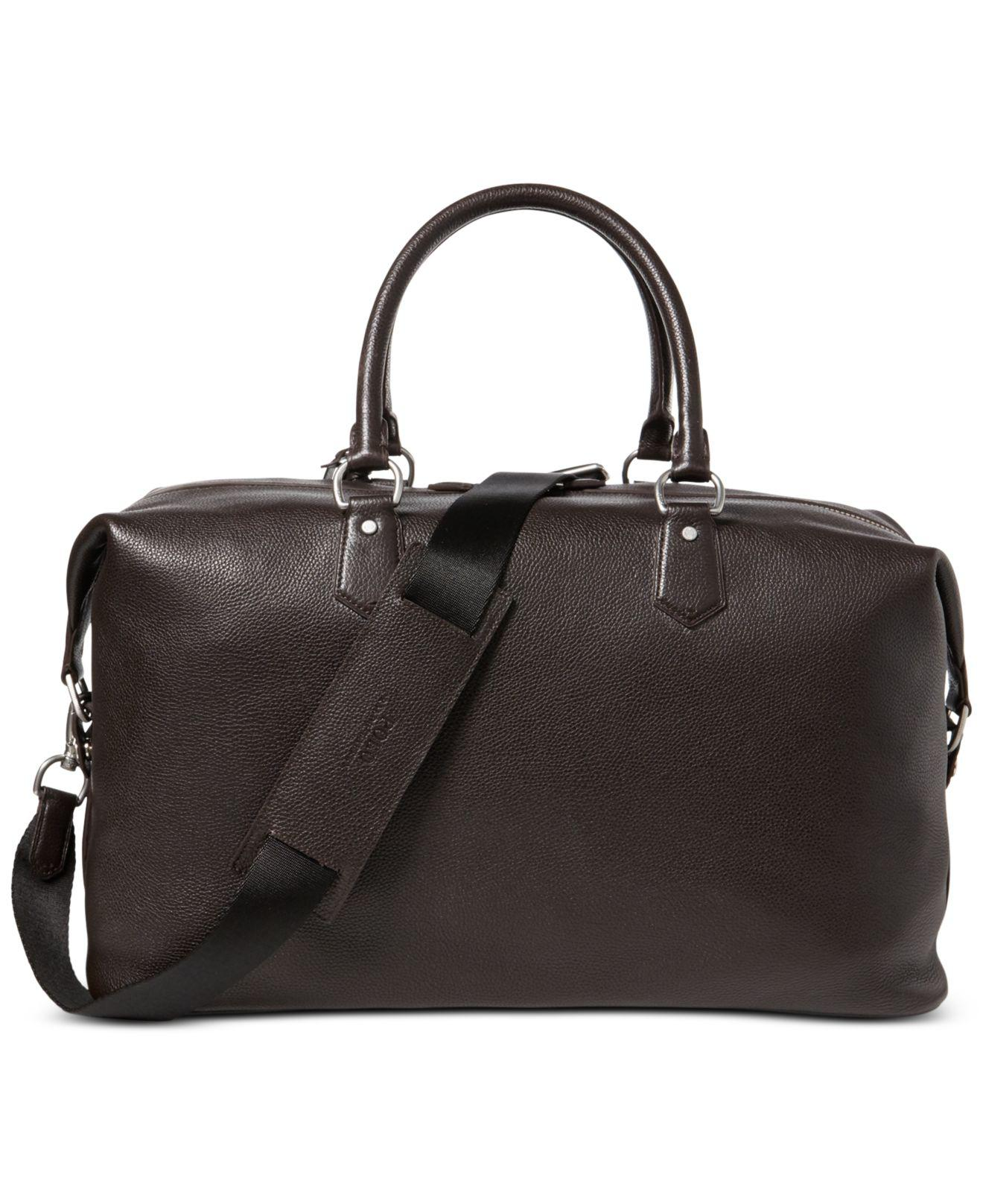 9c12f3e807 ... where to buy lyst polo ralph lauren mens pebbled leather duffel bag in  brown f4081 3e806
