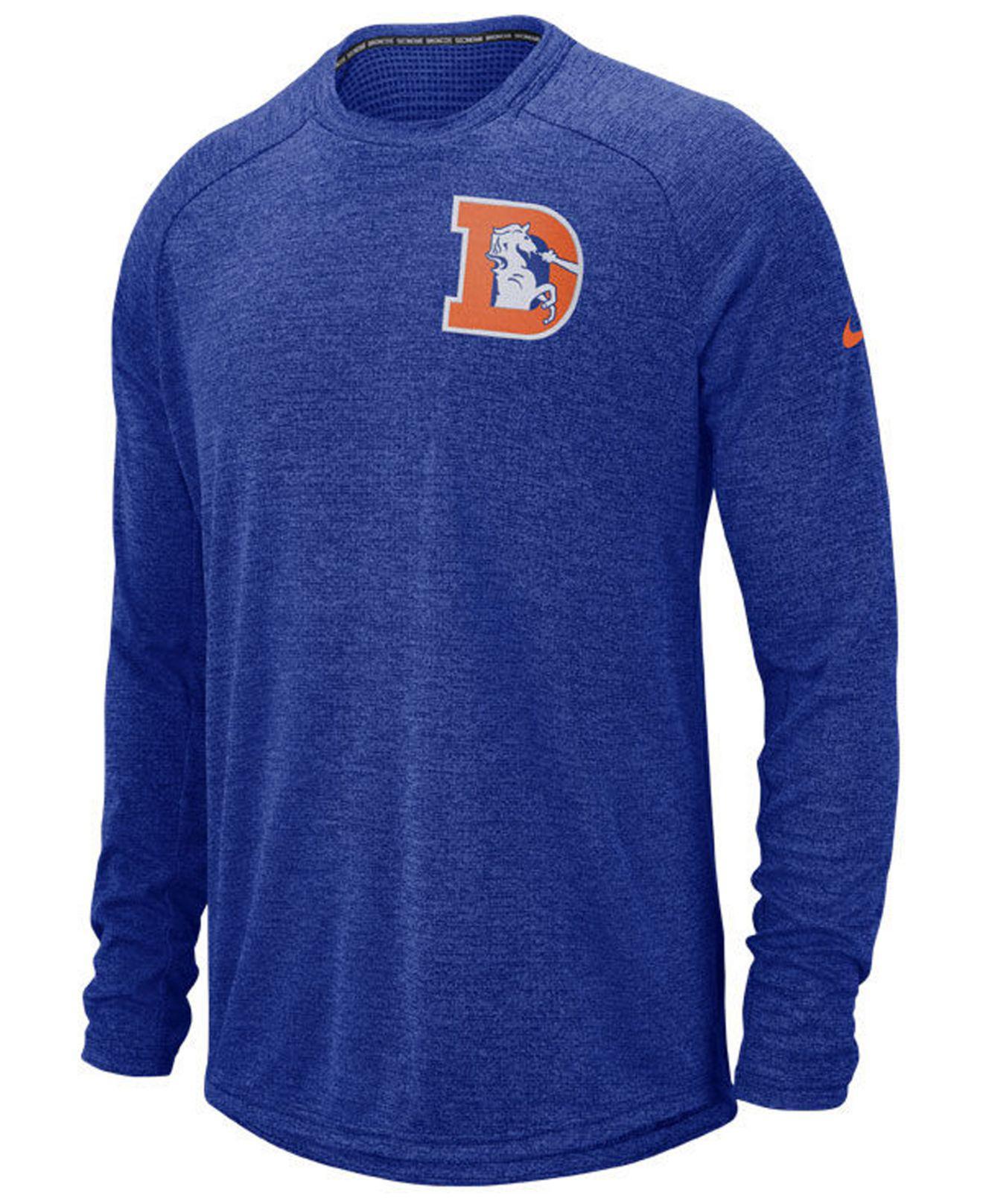 Lyst - Nike Denver Broncos Stadium Long Sleeve T-shirt in Blue for Men 0253ace89