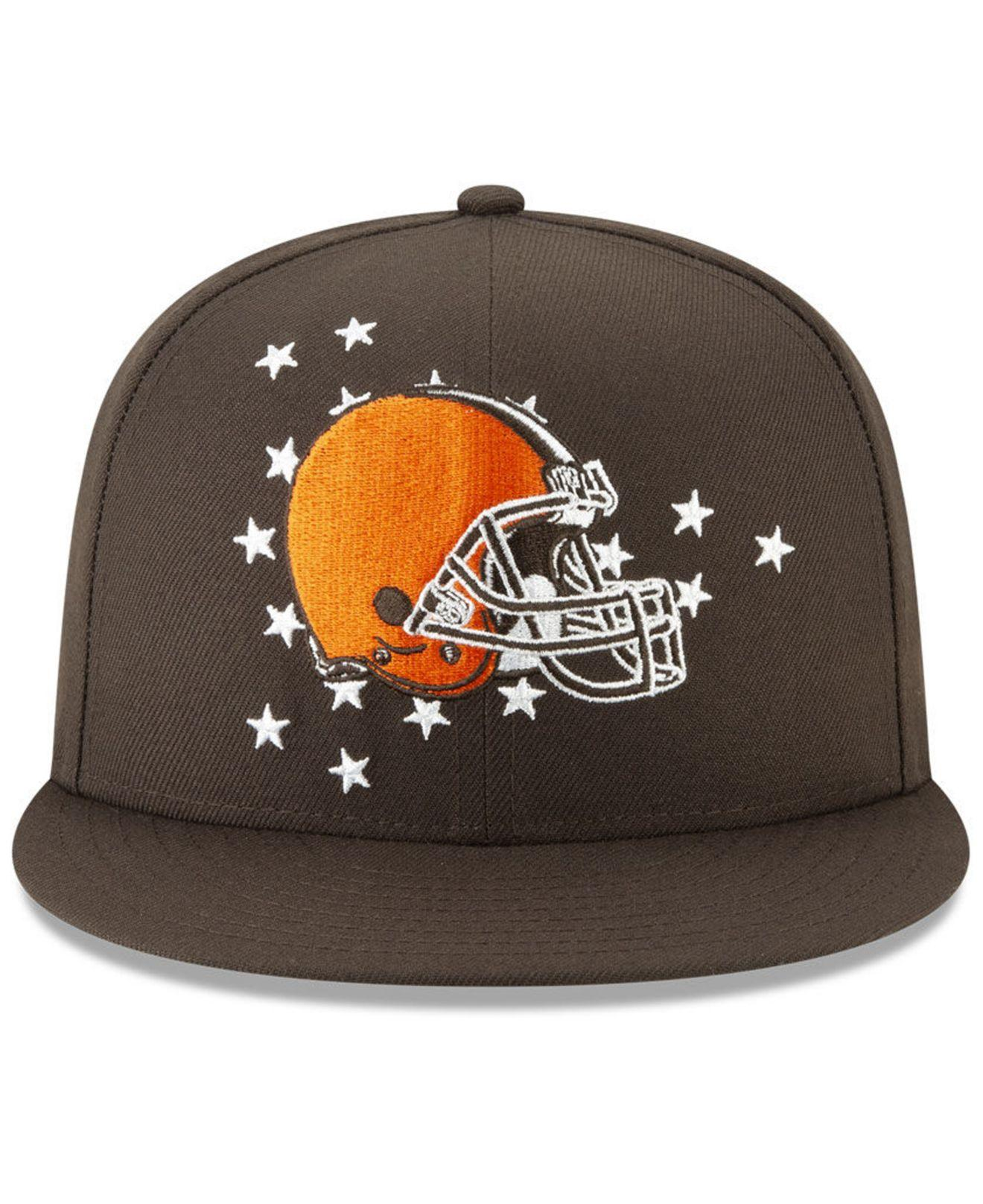 40374c79 Lyst - KTZ Cleveland Browns 2019 Draft 59fifty Fitted Cap in Brown ...