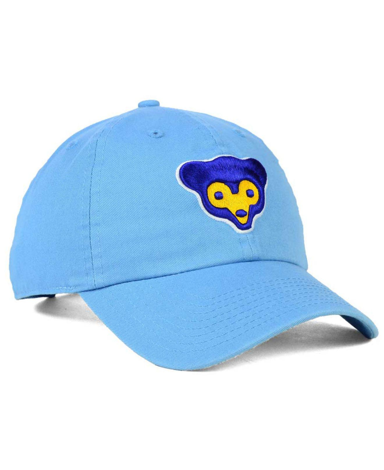 big sale 9c408 0775c ... new style 47 brand blue chicago cubs core clean up cap for men lyst.  view