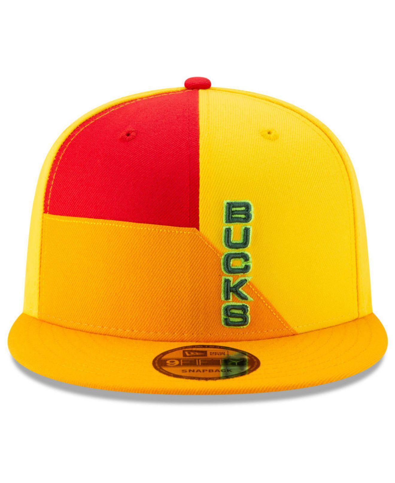 9f3c1024585 Lyst - KTZ Milwaukee Bucks City Series 2.0 9fifty Snapback Cap in Yellow  for Men