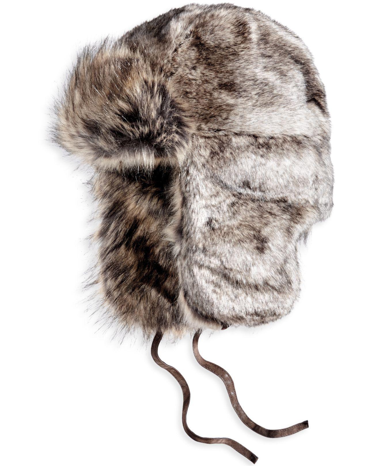 b4054a4d8da Lyst - Woolrich Men s Faux-fur Trooper Hat in Brown for Men