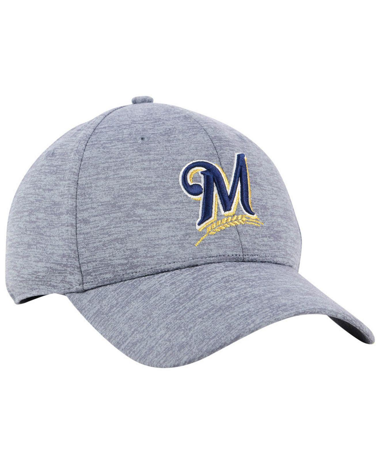 54ebcc49857 Under Armour - Gray Milwaukee Brewers Twist Closer Cap for Men - Lyst. View  fullscreen
