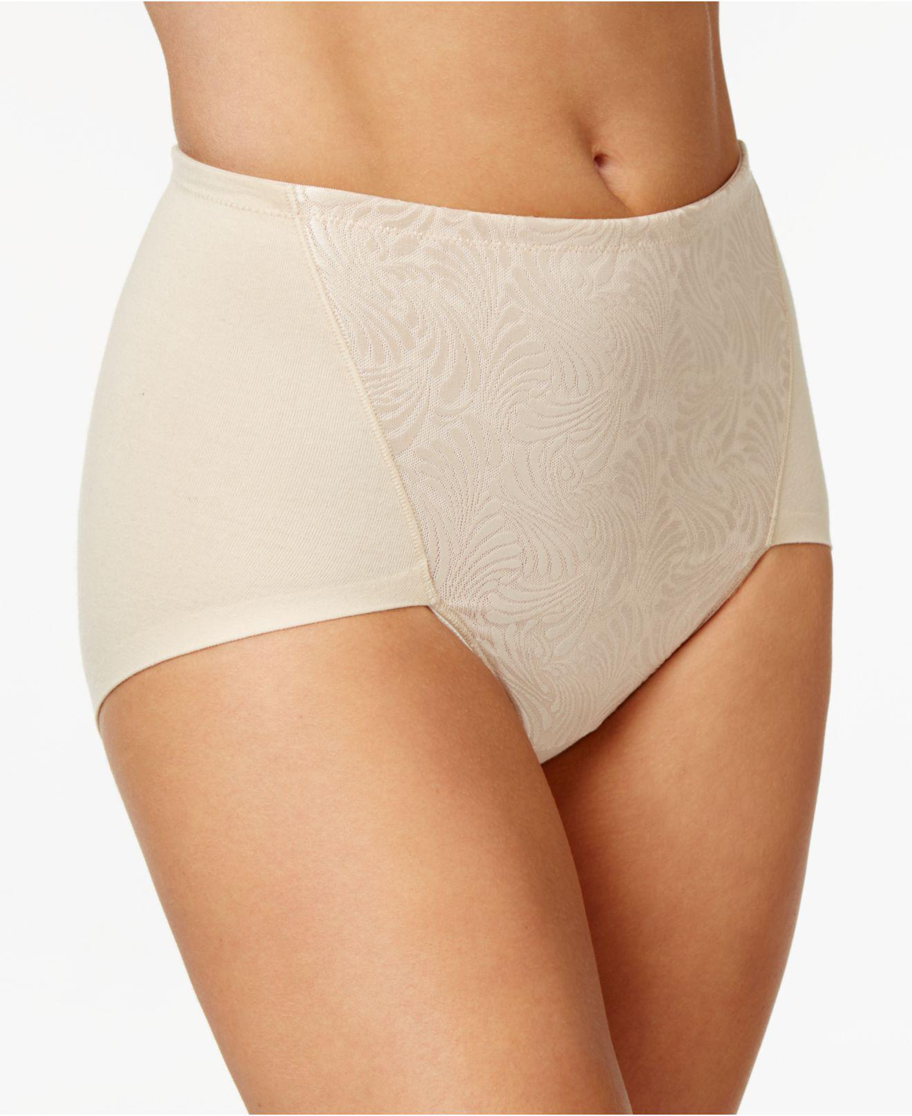 3bb45f58c2 Lyst - Bali 2-pack Ultra Tummy-control Cotton Brief Df6510 in Natural