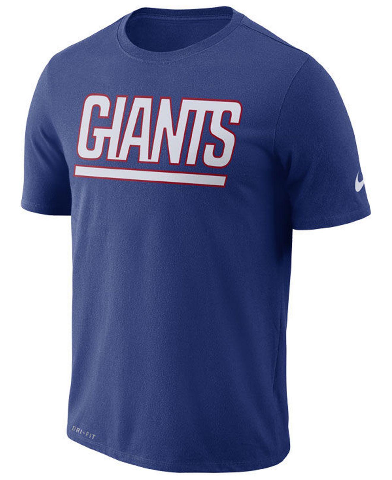 c5b00b0c4 Nike. Men s Blue New York Giants Dri-fit Cotton Essential Wordmark T-shirt
