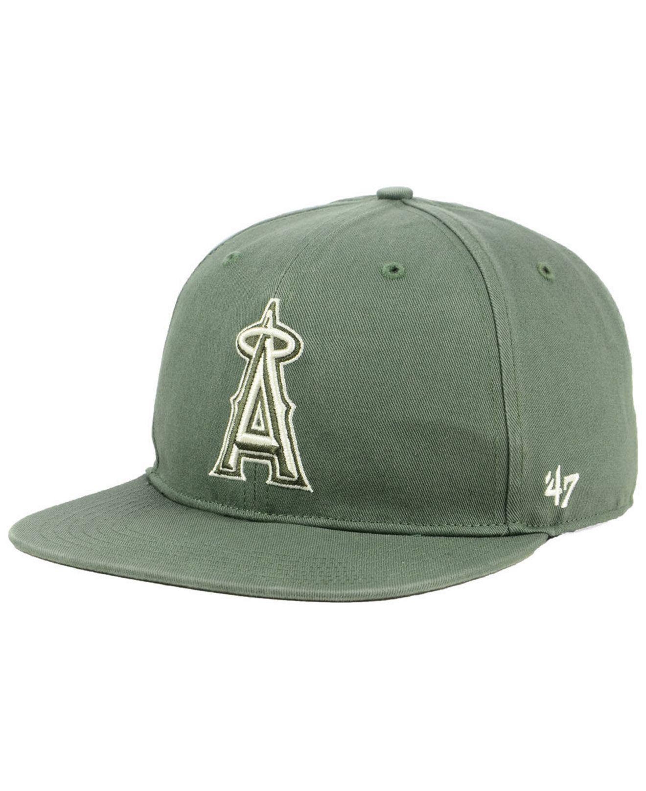 new concept dc627 1bc90 47 Brand. Men s Green Los Angeles Angels Moss Snapback Cap