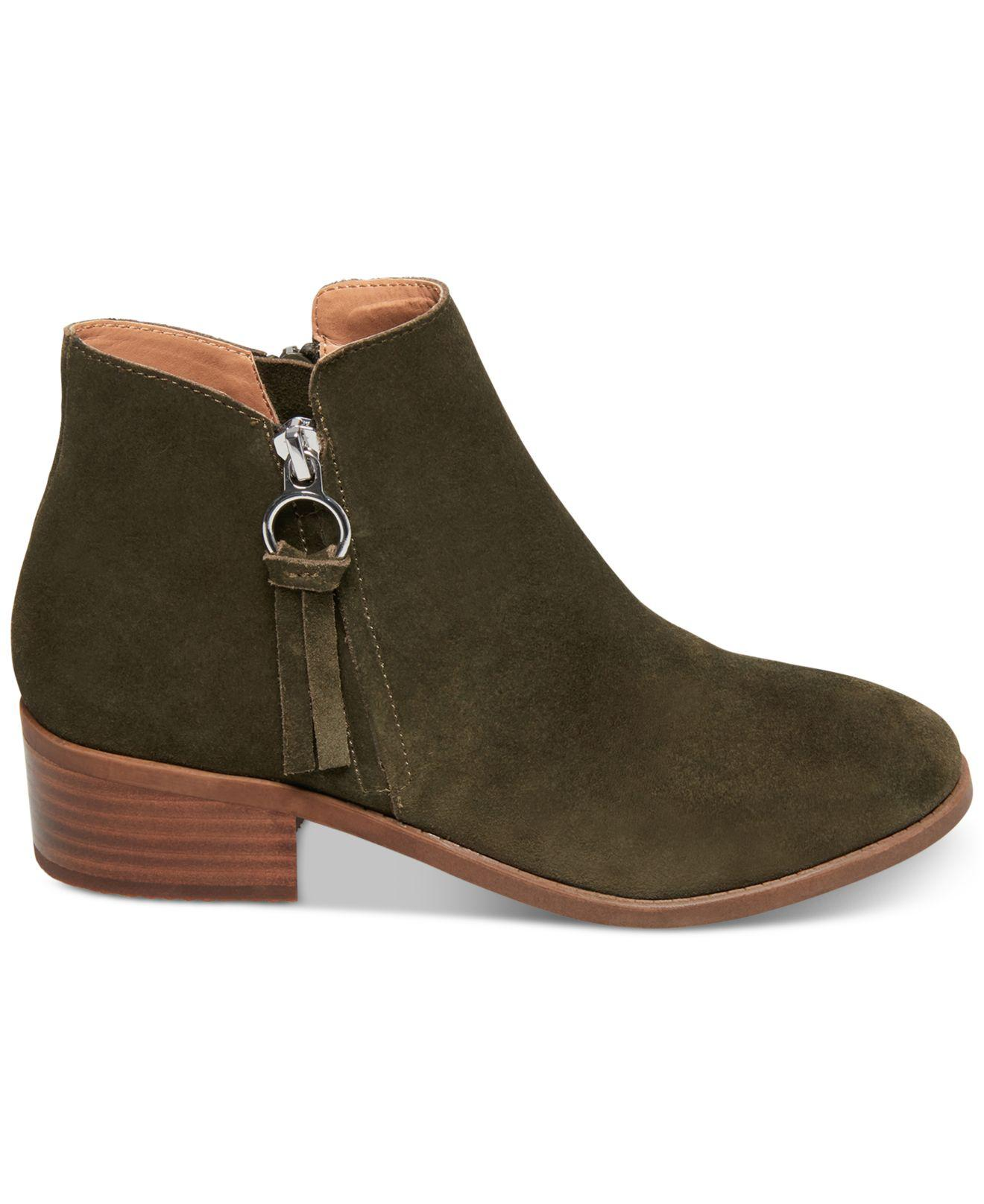 04ace7b8495 Lyst - Steve Madden Dacey Ankle Booties in Green
