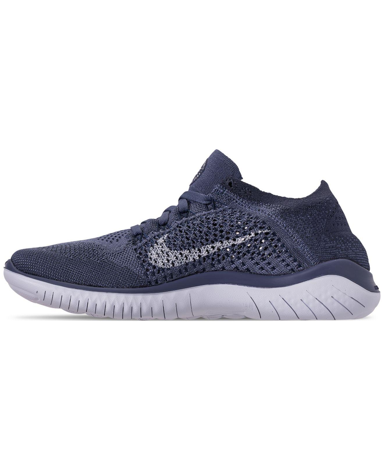 b722438b8f24 Lyst - Nike Free Rn Flyknit 2018 Running Sneakers From Finish Line in Blue  for Men