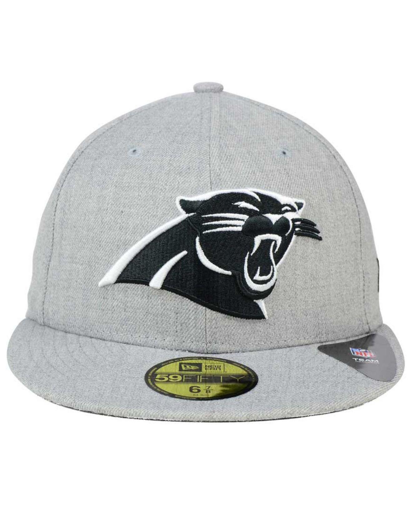 Lyst - KTZ Carolina Panthers Heather Black White 59fifty Cap in Gray for Men af0c8d240