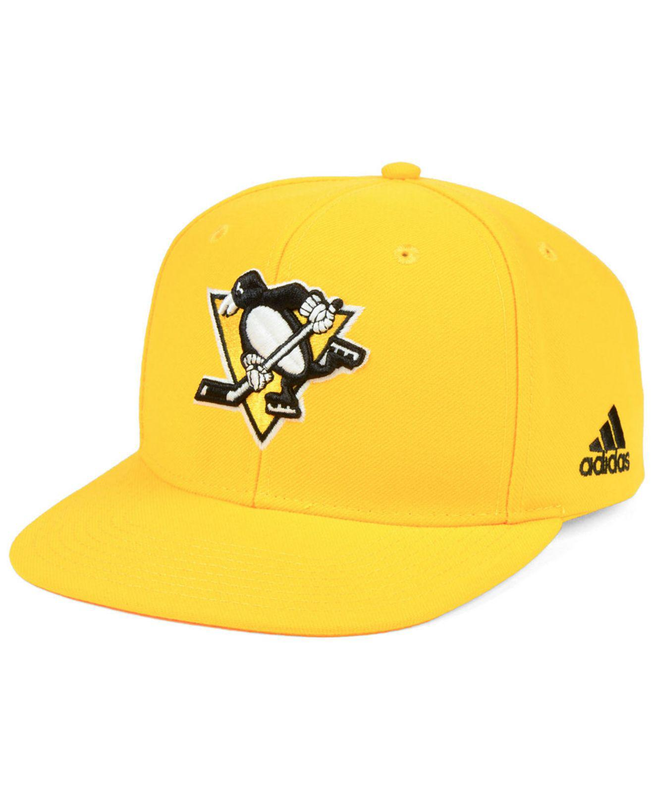 8869869e214 Adidas - Yellow Pittsburgh Penguins Core Snapback Cap for Men - Lyst. View  fullscreen