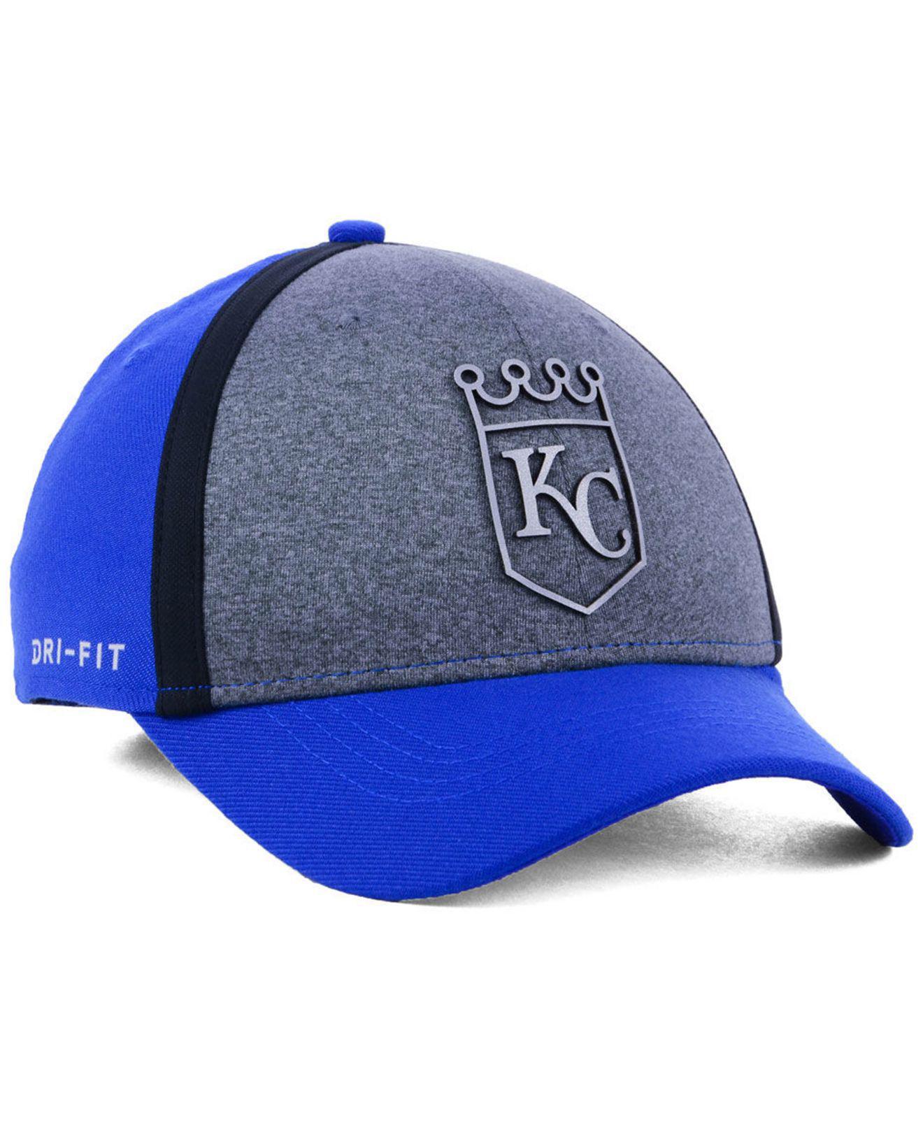 b711f679892 ... new style kansas city royals team color reflective swooshflex cap for men  lyst. view fullscreen
