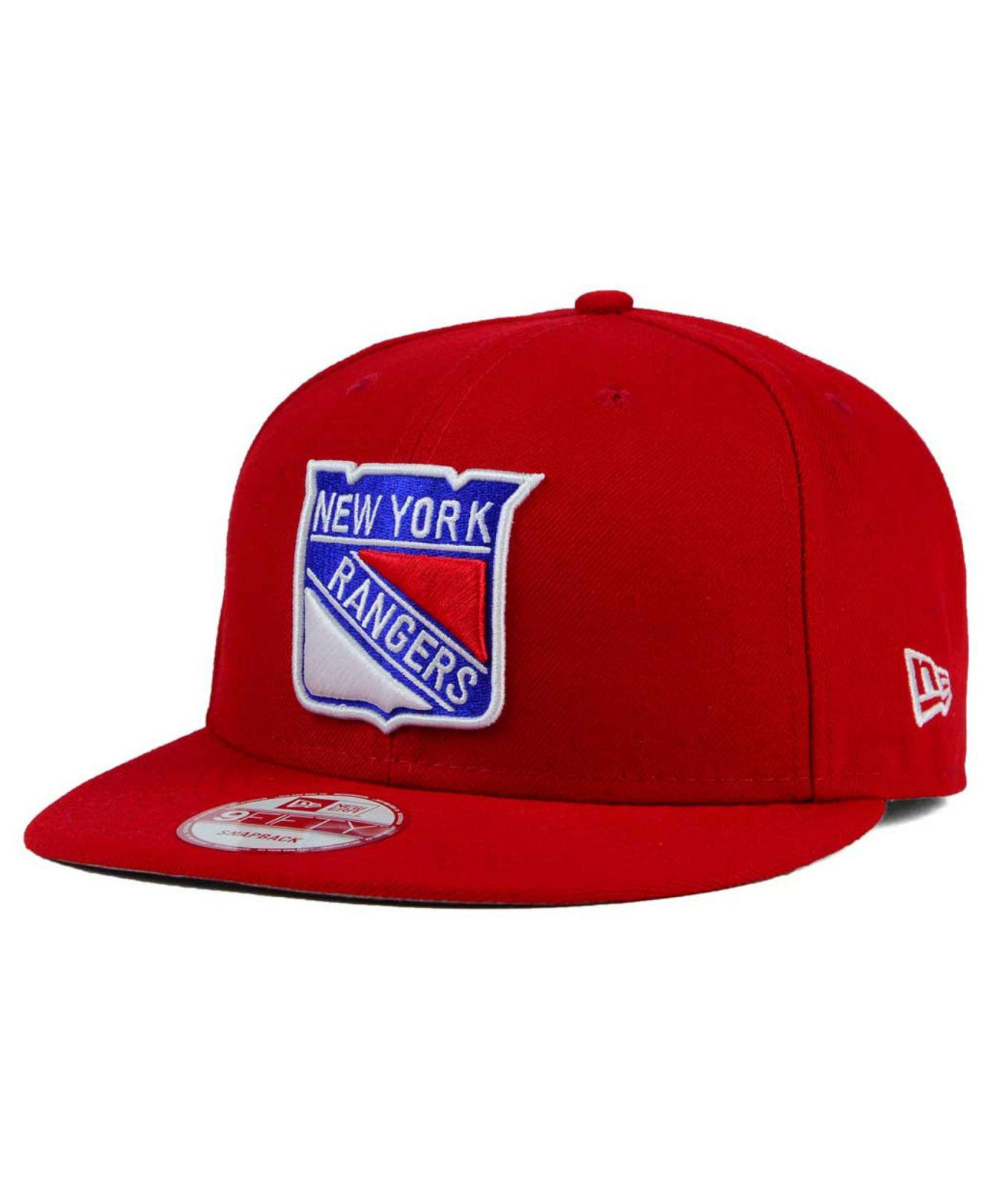 pretty nice 35a52 2994d KTZ. Men s Red New York Rangers All Day 9fifty Snapback Cap