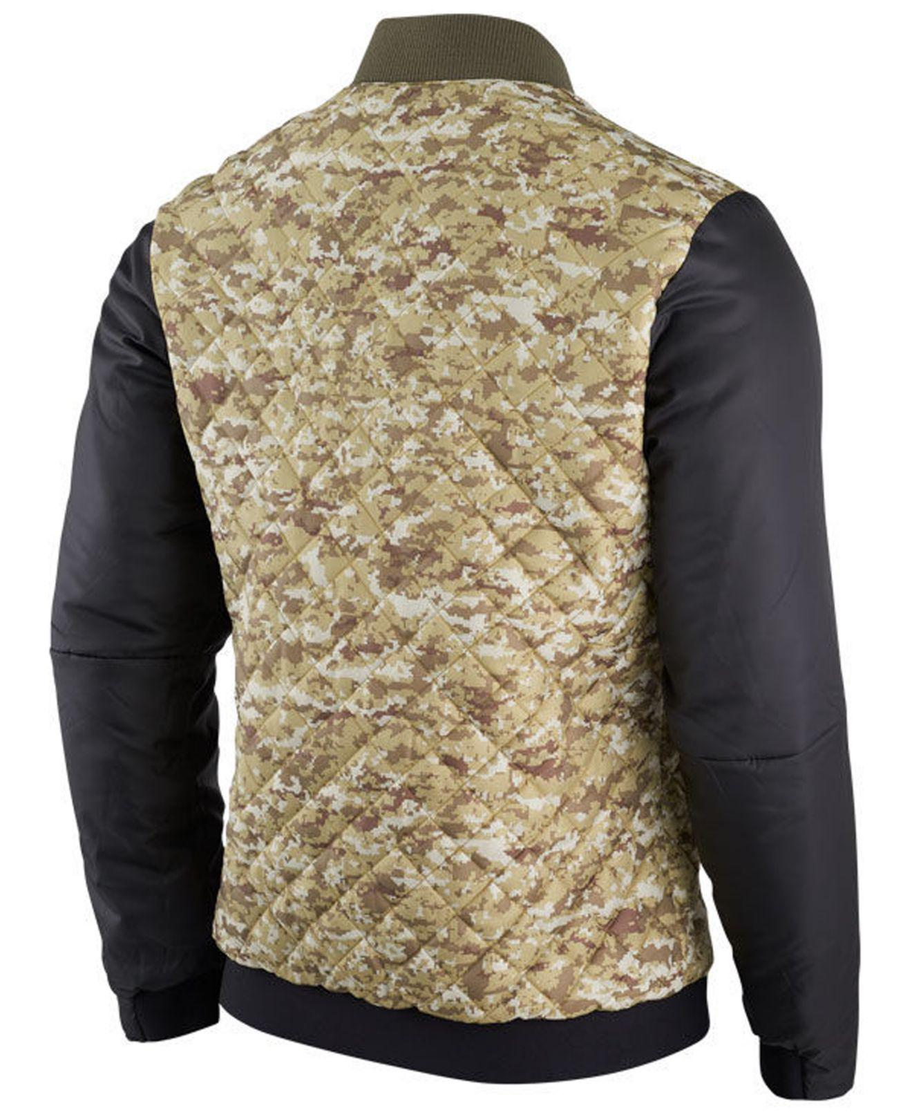 Lyst - Nike New York Giants Salute To Service Bomber Jacket in Green ... 8b2e6c8f4