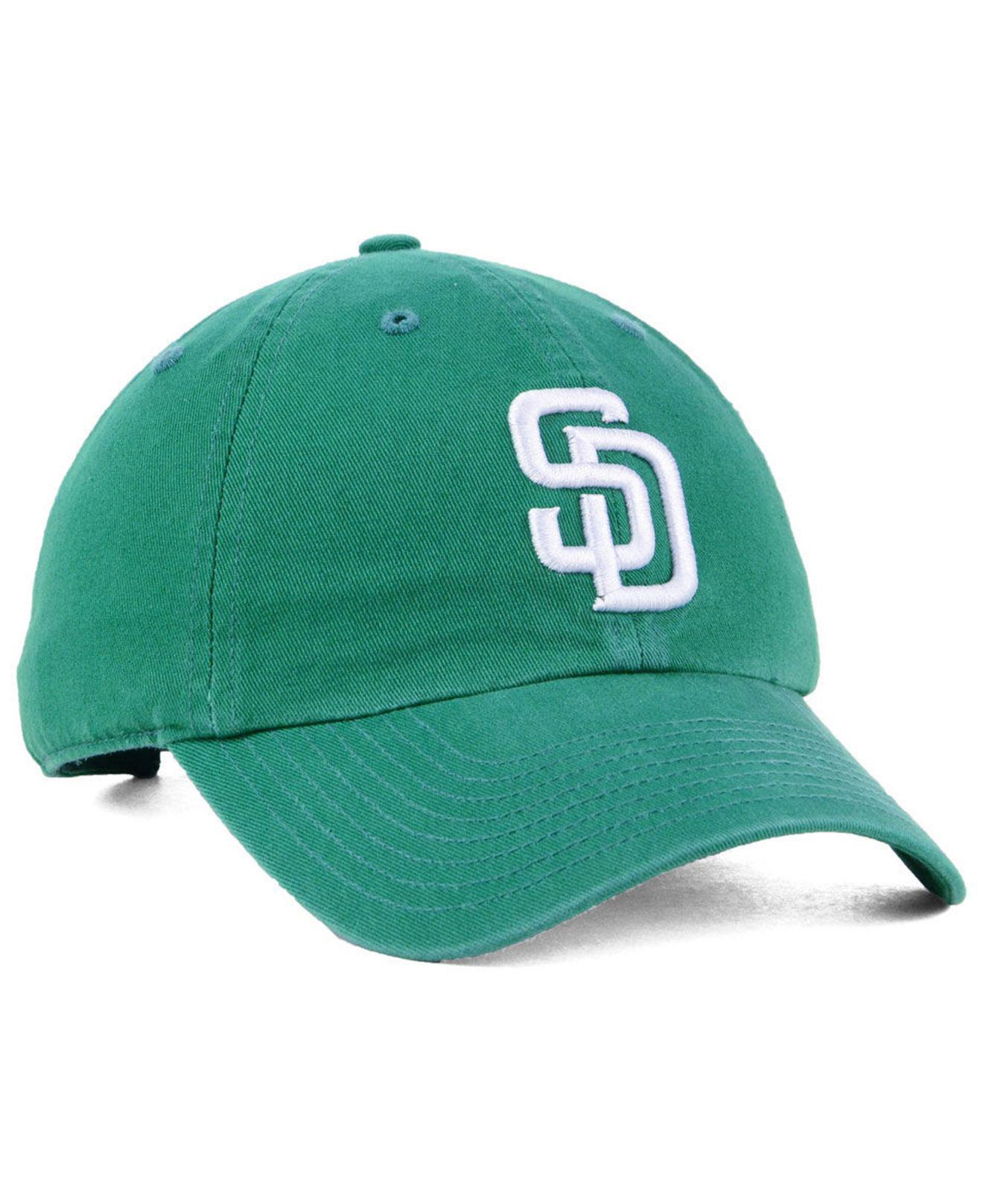 online store fc3c1 dd856 sweden 47 brand green san diego padres kelly white clean up cap for men  lyst.